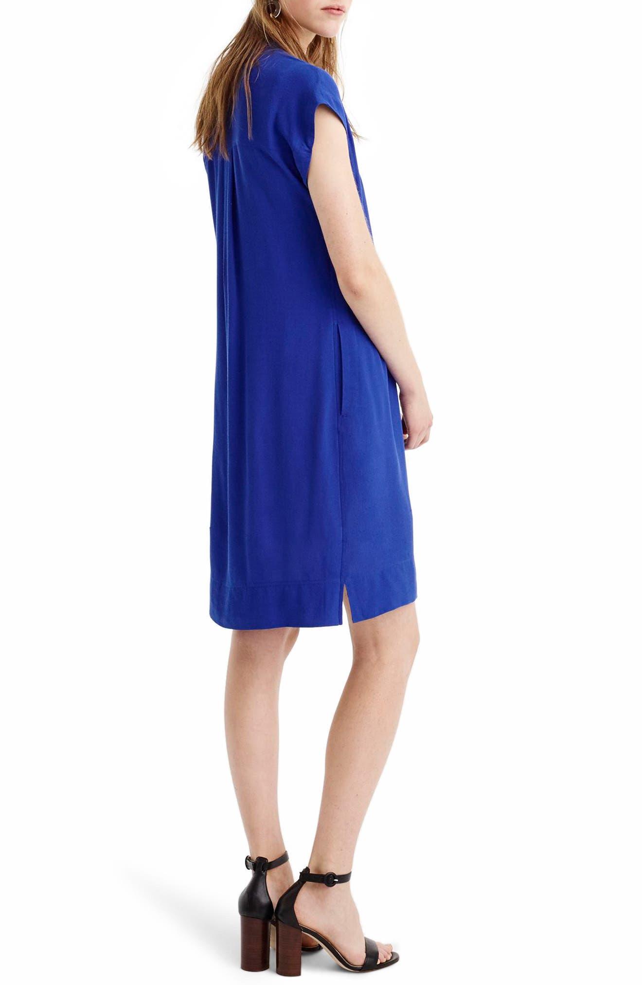 Easy Tunic Dress,                             Alternate thumbnail 2, color,                             Bright Ocean