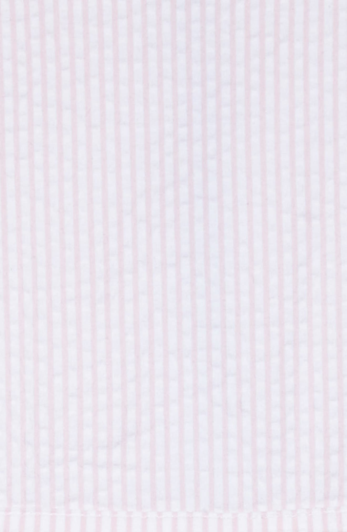 Seersucker Dress,                             Alternate thumbnail 3, color,                             Flamingo