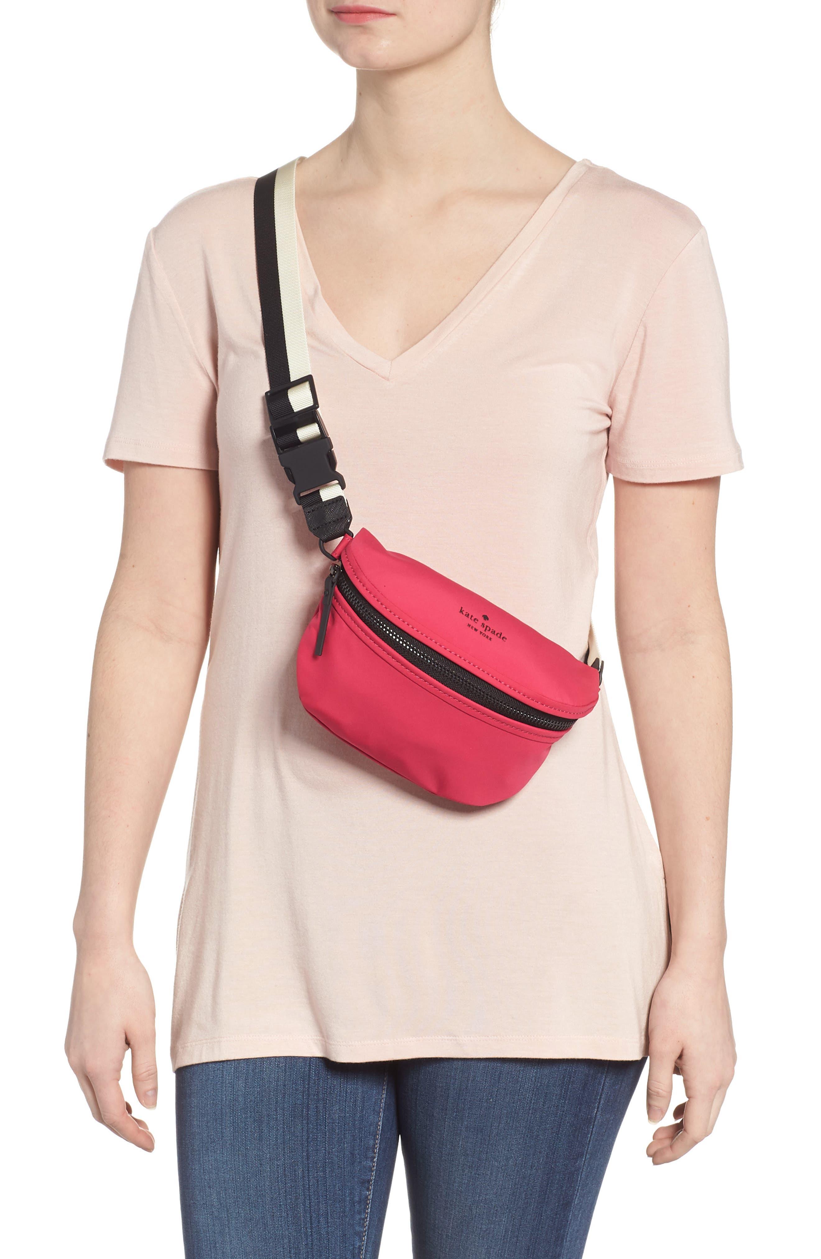 that's the spirit mini nylon fanny pack,                             Alternate thumbnail 2, color,                             Kinetic Pink