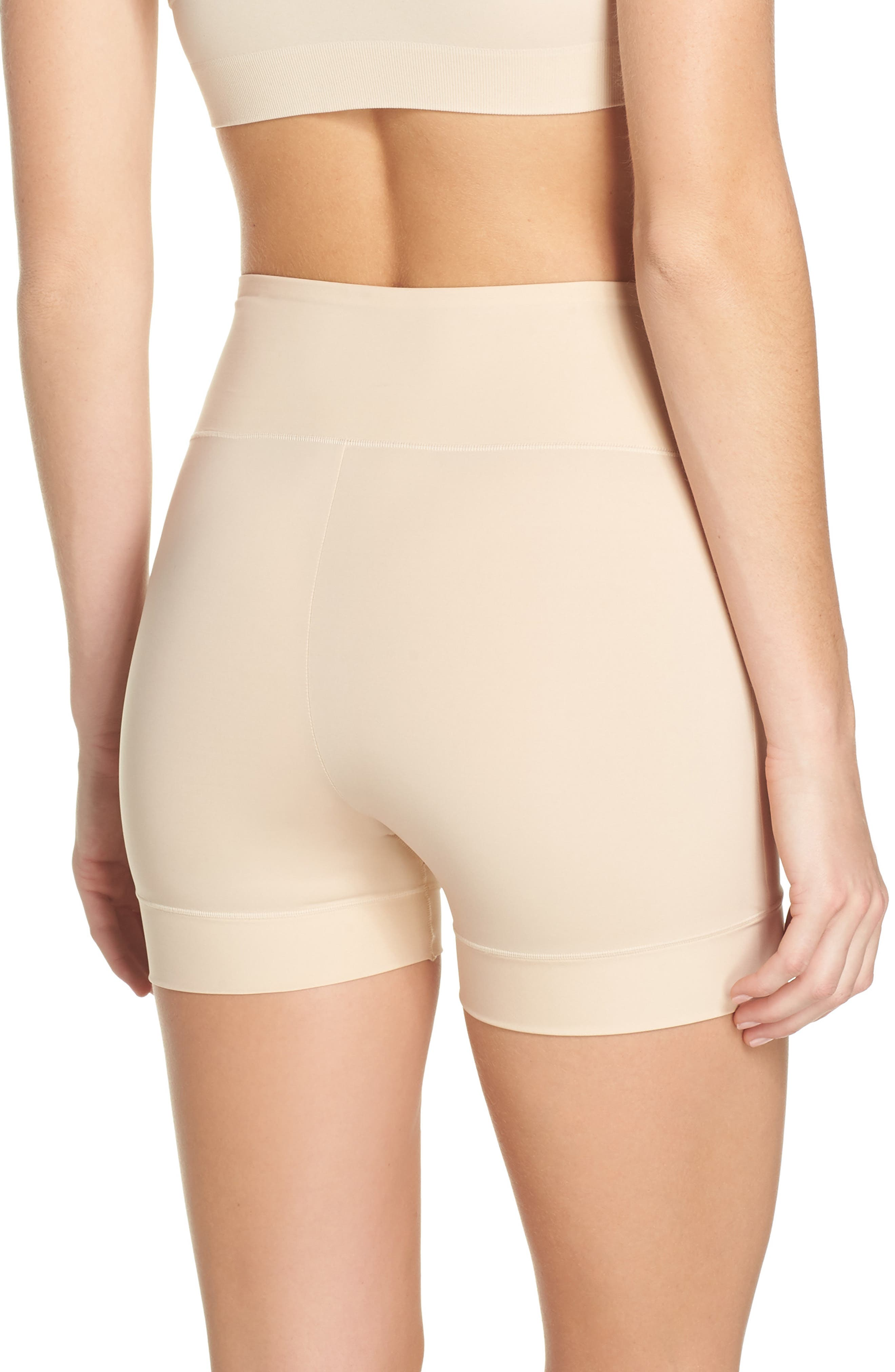 Tummie Tamers Mid Waist Shaping Shorts,                             Alternate thumbnail 2, color,                             Frappe