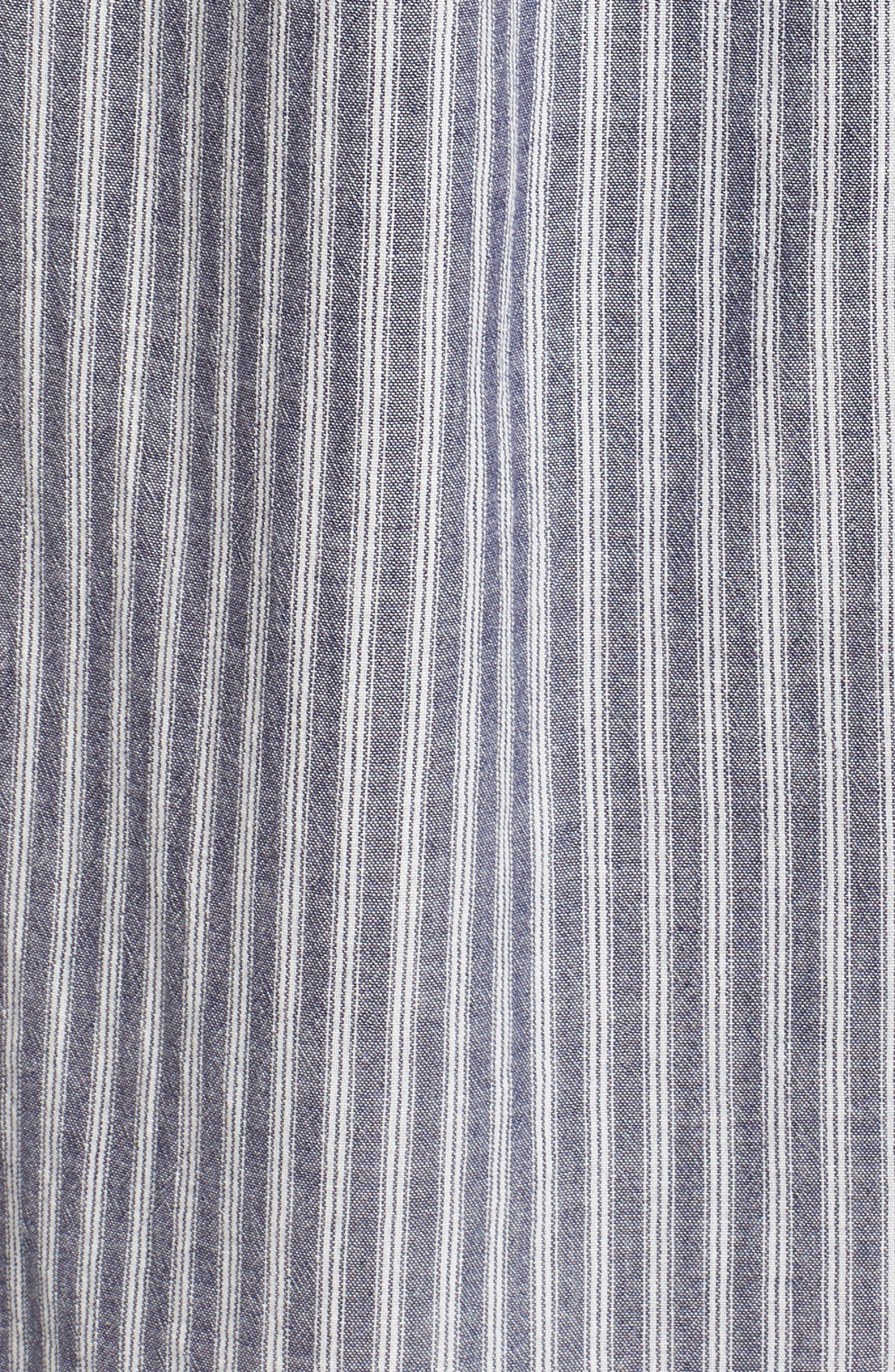 Carmel Smocked Off the Shoulder Maxi Dress,                             Alternate thumbnail 6, color,                             Chambray