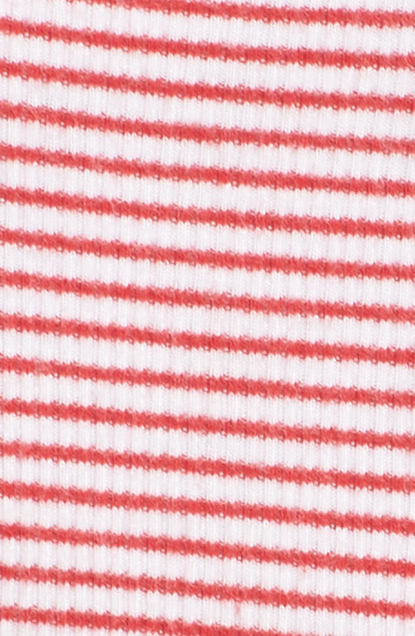 Peony Shorts,                             Alternate thumbnail 5, color,                             Red Stripe