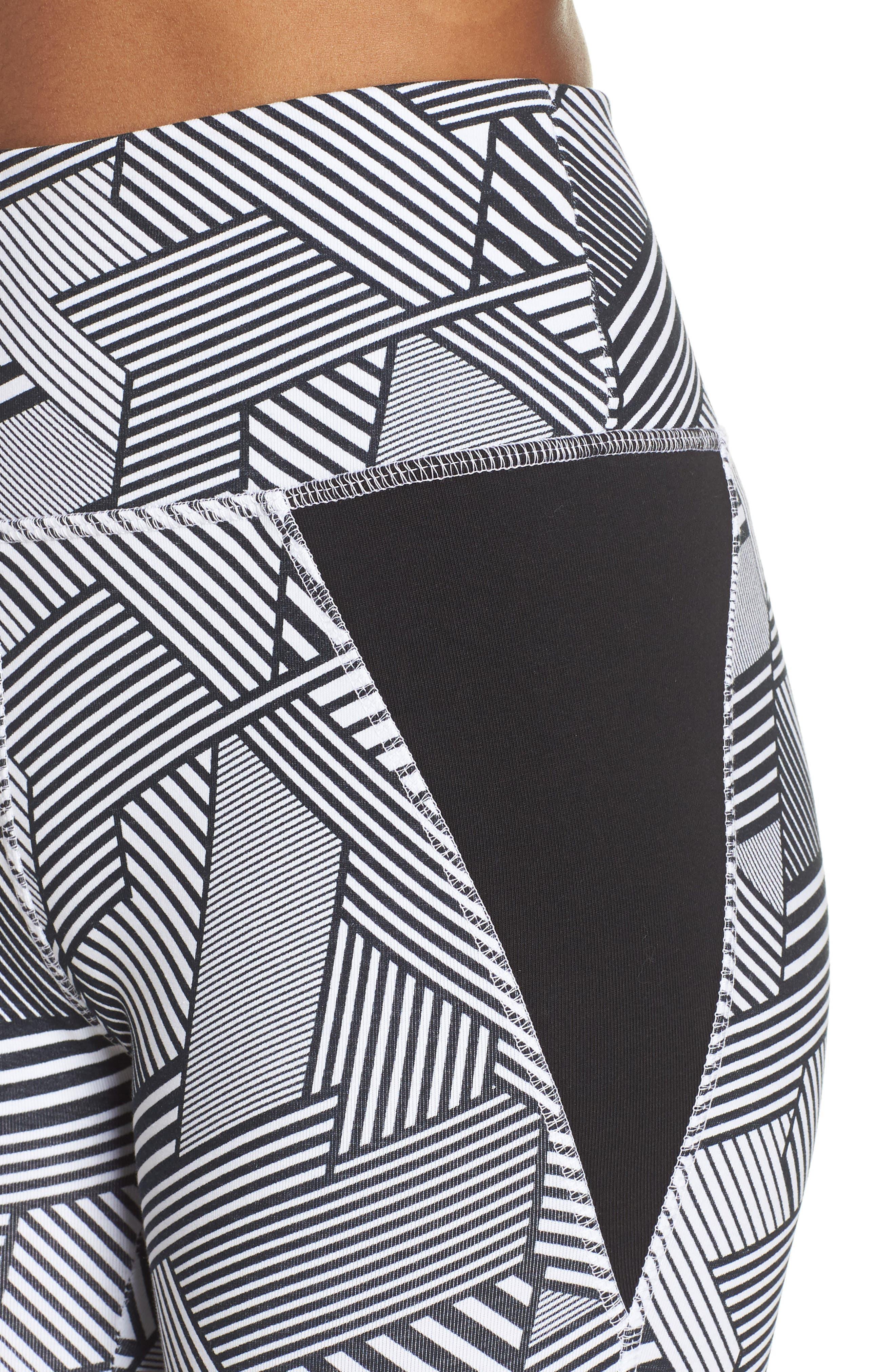 247 Sport Leggings,                             Alternate thumbnail 4, color,                             Black Multi