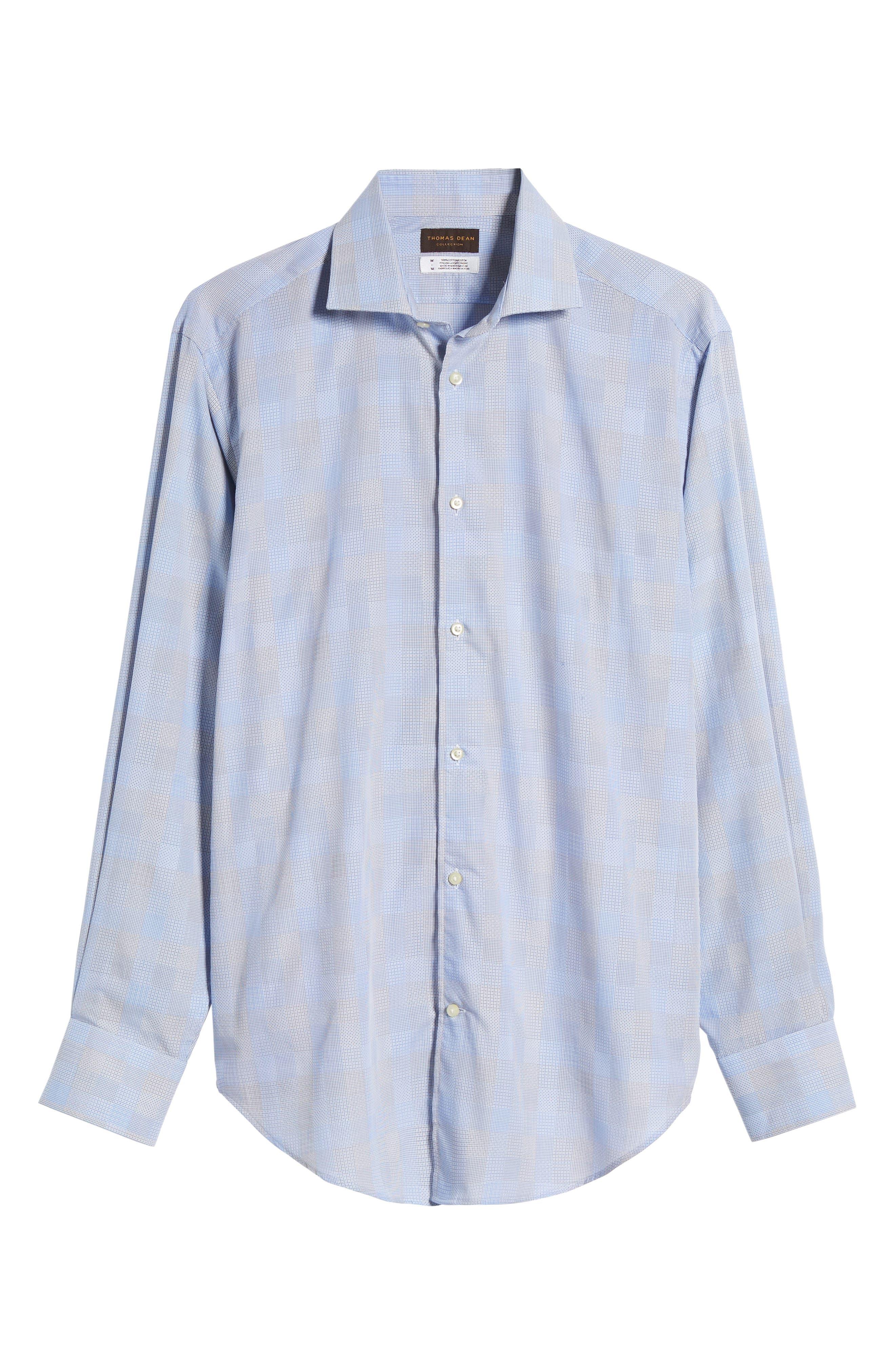 Regular Fit Check Sport Shirt,                             Alternate thumbnail 6, color,                             Blue