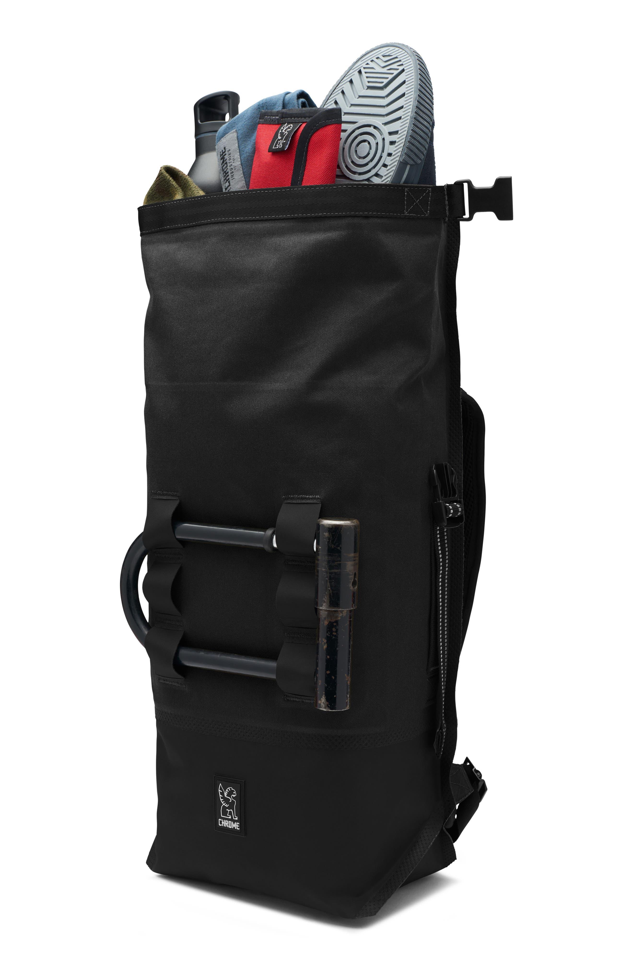 Urban Ex Rolltop Waterproof Backpack,                             Alternate thumbnail 3, color,                             Black/ Black