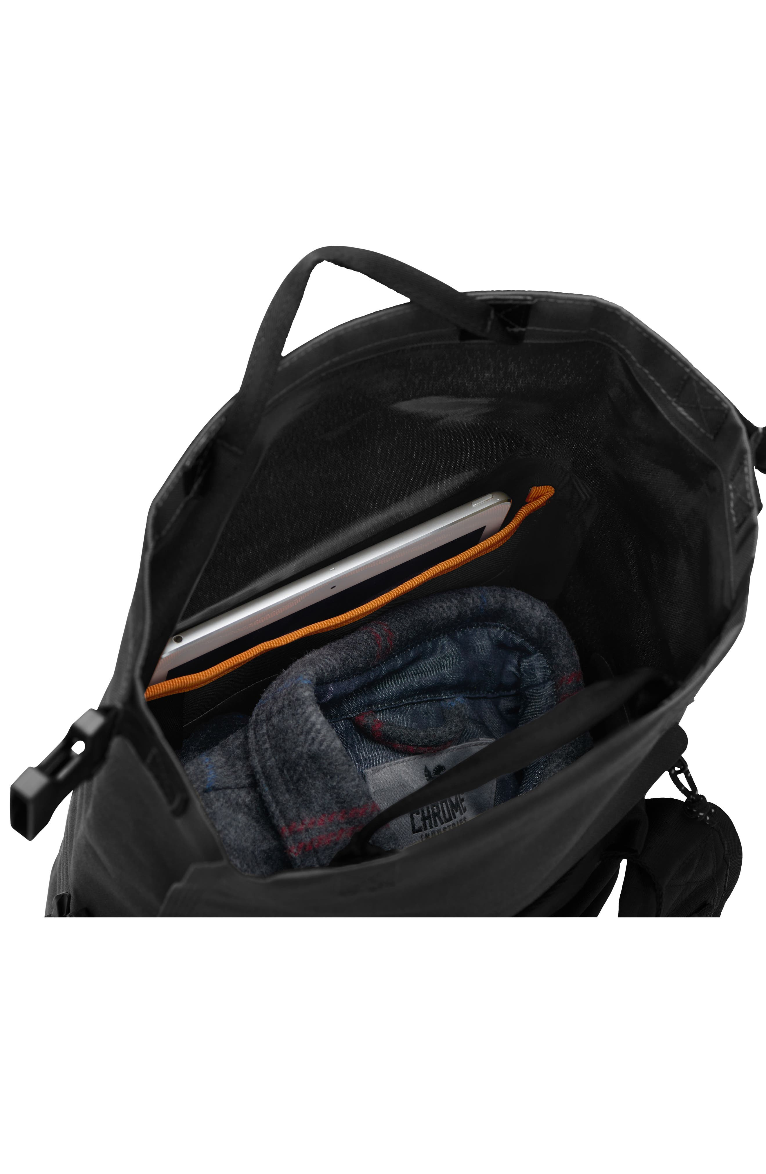 Urban Ex Rolltop Waterproof Backpack,                             Alternate thumbnail 6, color,                             Black/ Black