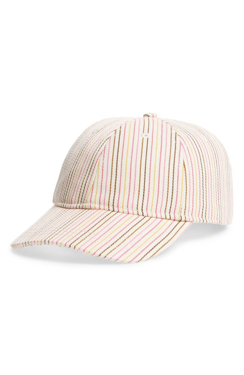 MADEWELL MULTI STRIPE BASEBALL CAP - PINK cc1502630f81