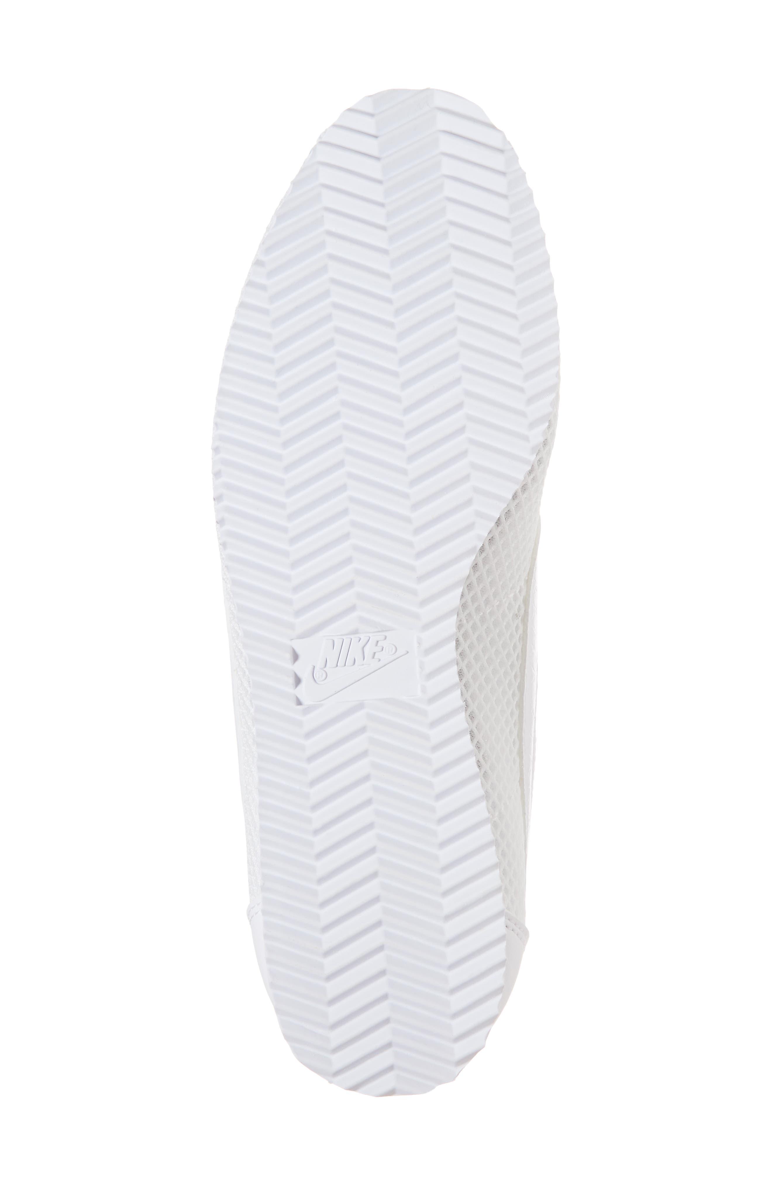 Classic Cortez Premium XLV Sneaker,                             Alternate thumbnail 6, color,                             White/ White