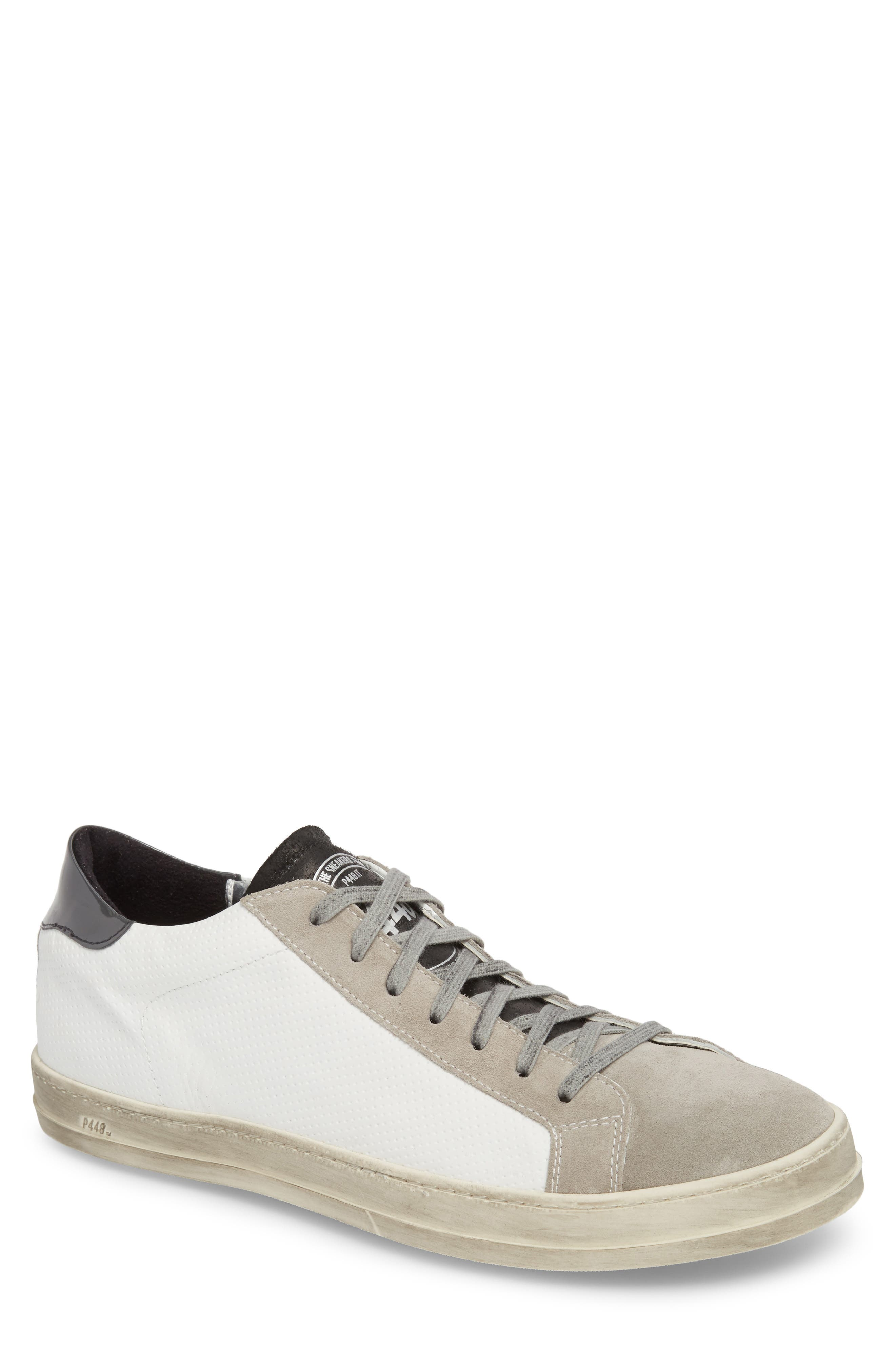 John Mix Low Top Sneaker,                         Main,                         color, White