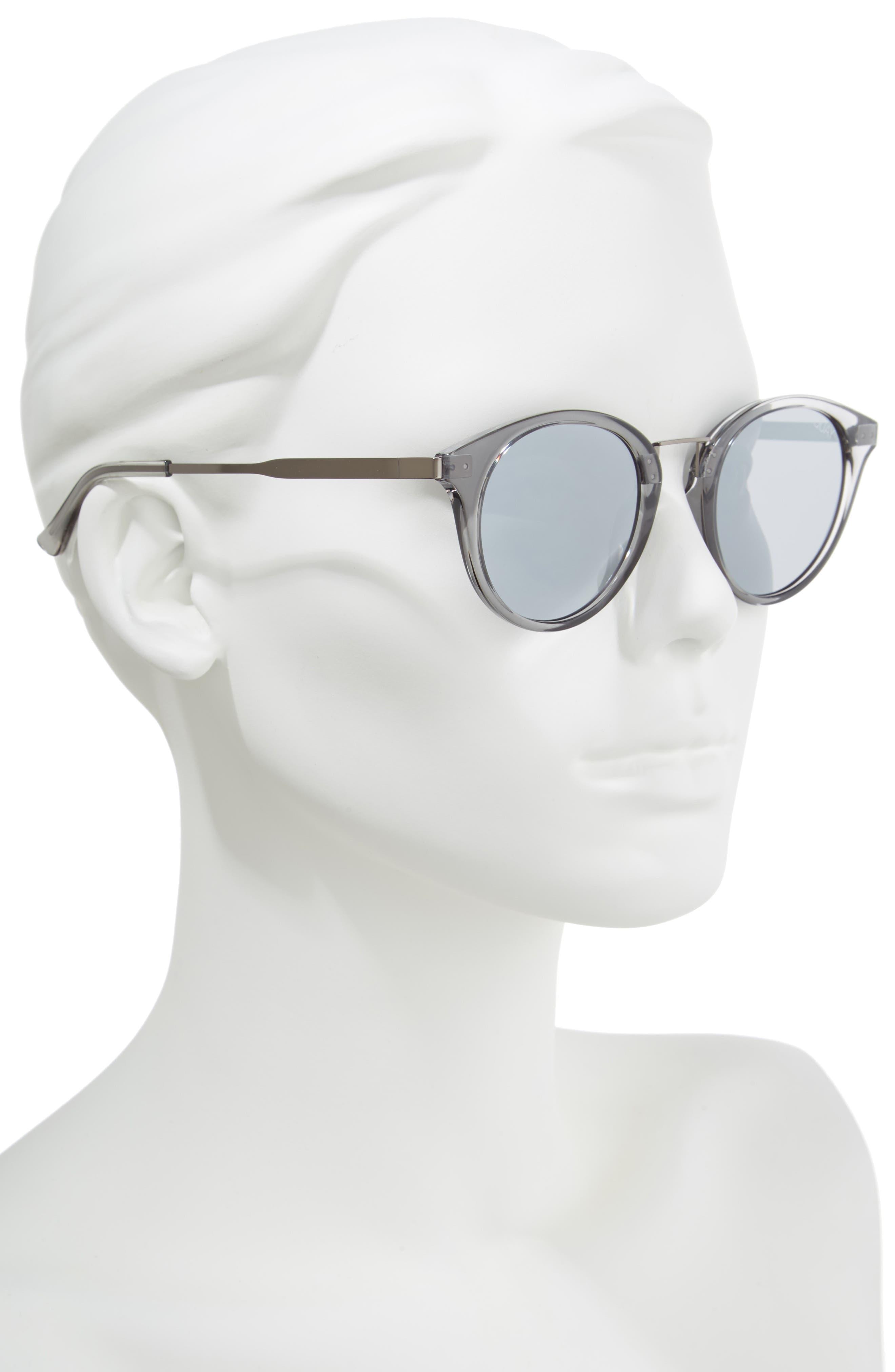 Gotta Run 48mm Sunglasses,                             Alternate thumbnail 2, color,                             Grey/ Silver