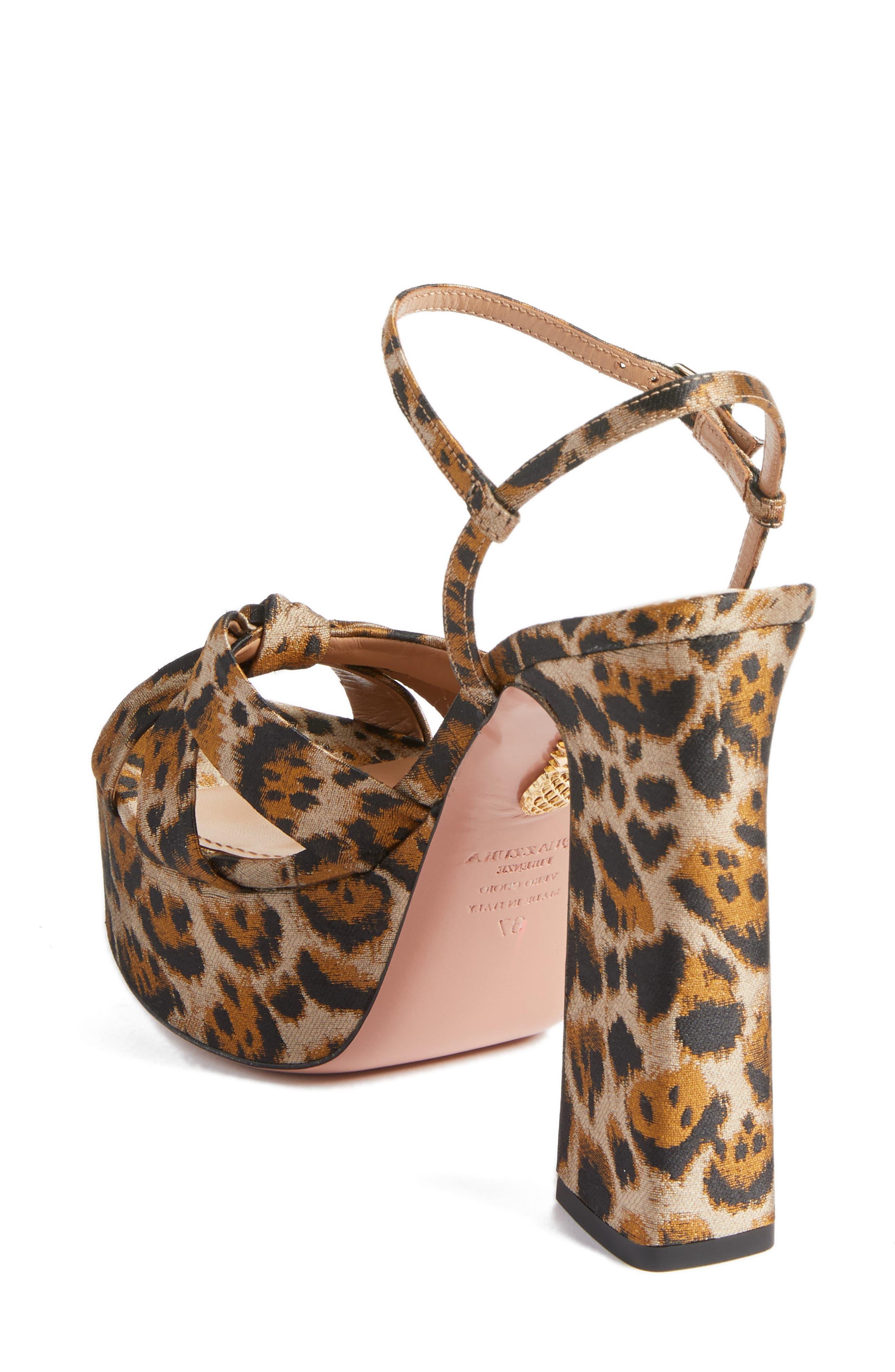 Baba Platform Sandal,                             Alternate thumbnail 2, color,                             Leopard