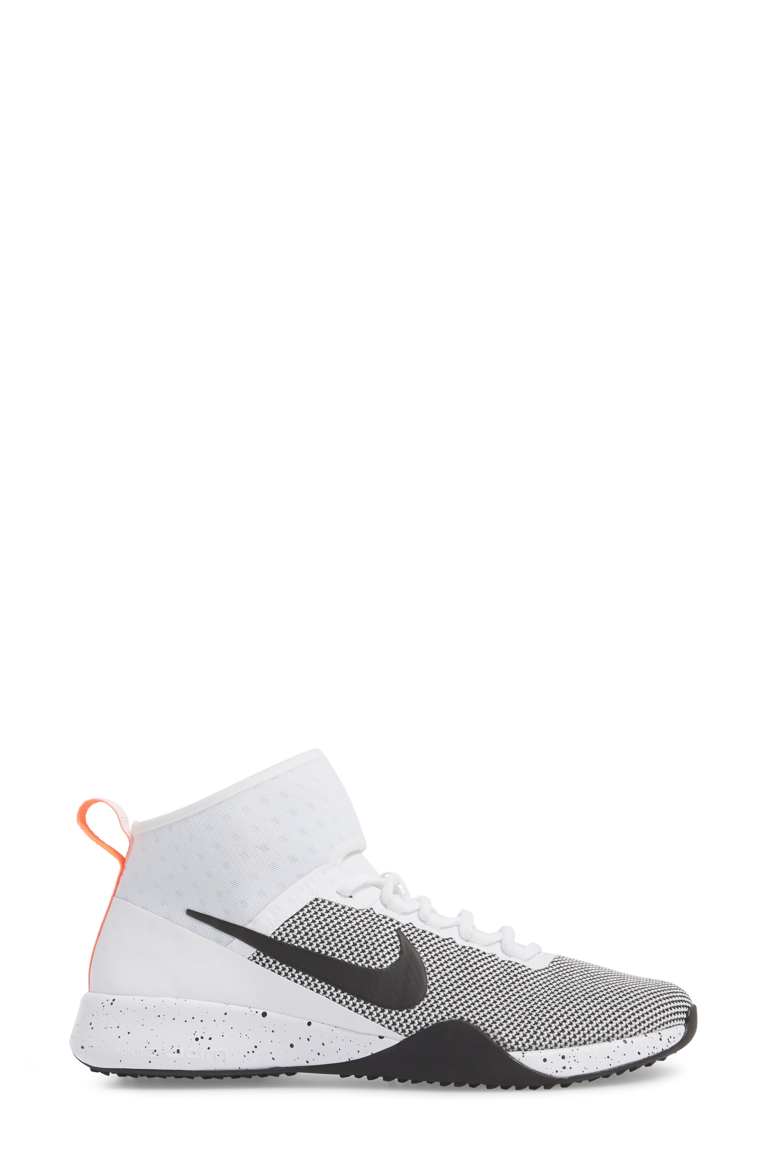 NikeLab Air Zoom Strong 2 Training Shoe,                             Alternate thumbnail 3, color,                             White/ Black/ Total Crimson