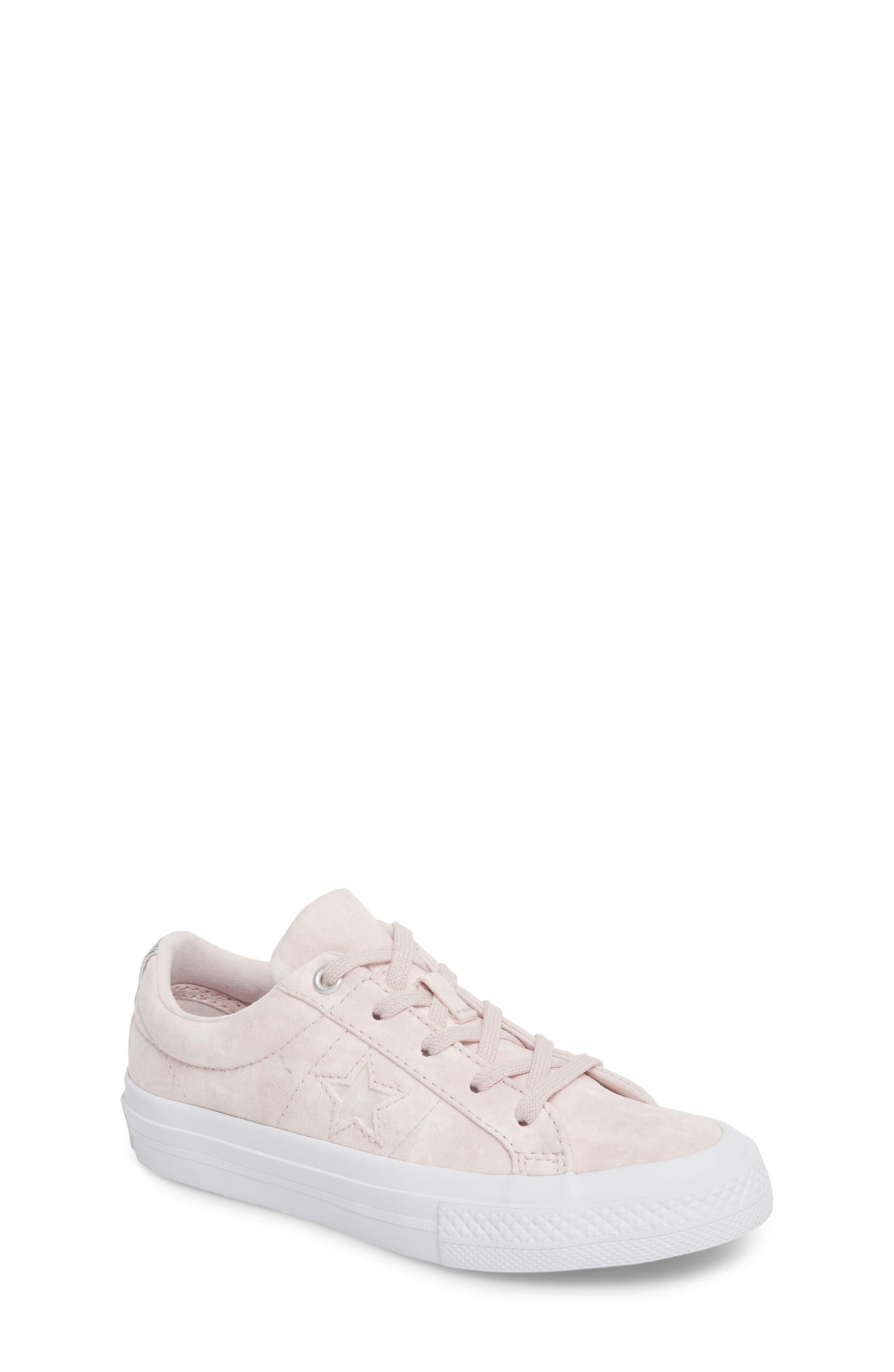 Chuck Taylor<sup>®</sup> All Star<sup>®</sup> Star Sneaker,                             Main thumbnail 1, color,                             Barely Rose