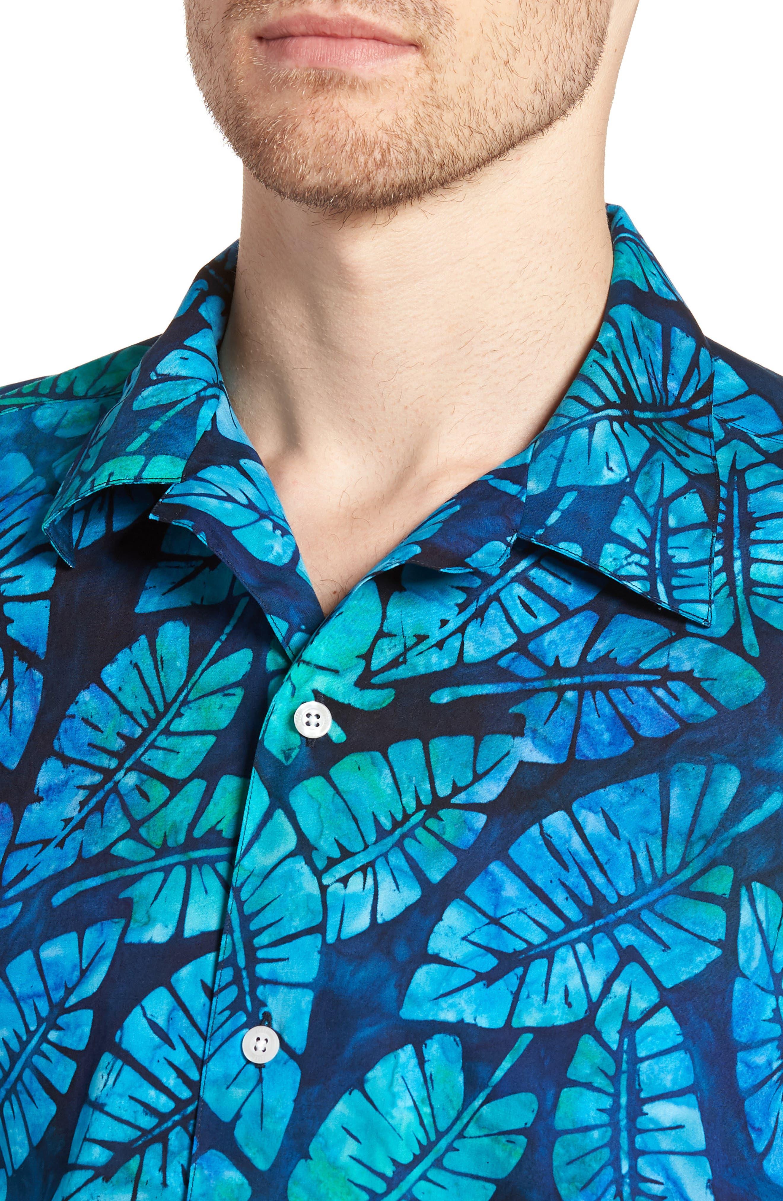 Kailua Trim Fit Print Sport Shirt,                             Alternate thumbnail 2, color,                             Green