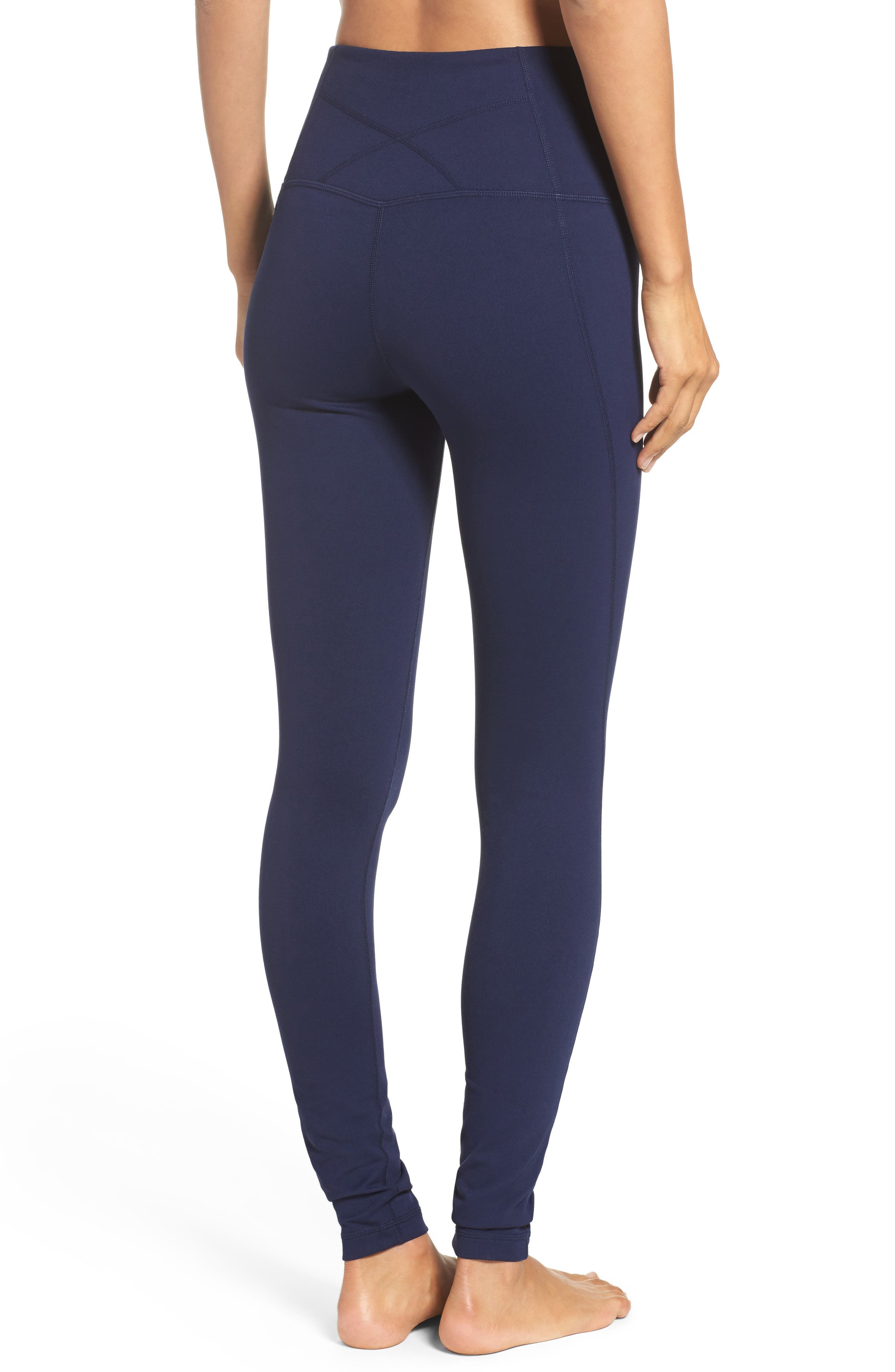 Live In High Waist Leggings,                             Alternate thumbnail 2, color,                             Navy Maritime