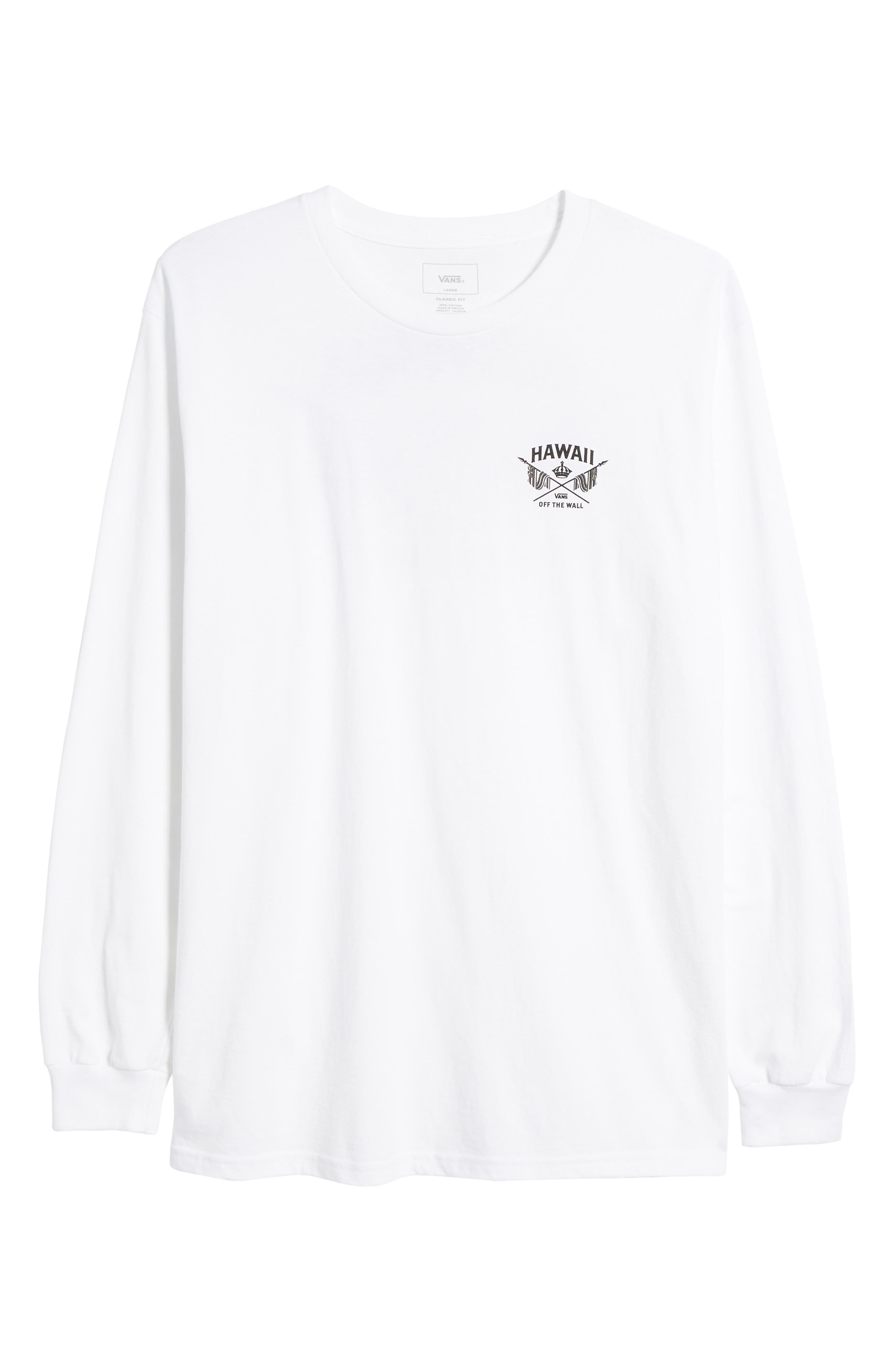 Hawaii Crown Graphic T-Shirt,                             Alternate thumbnail 6, color,                             White