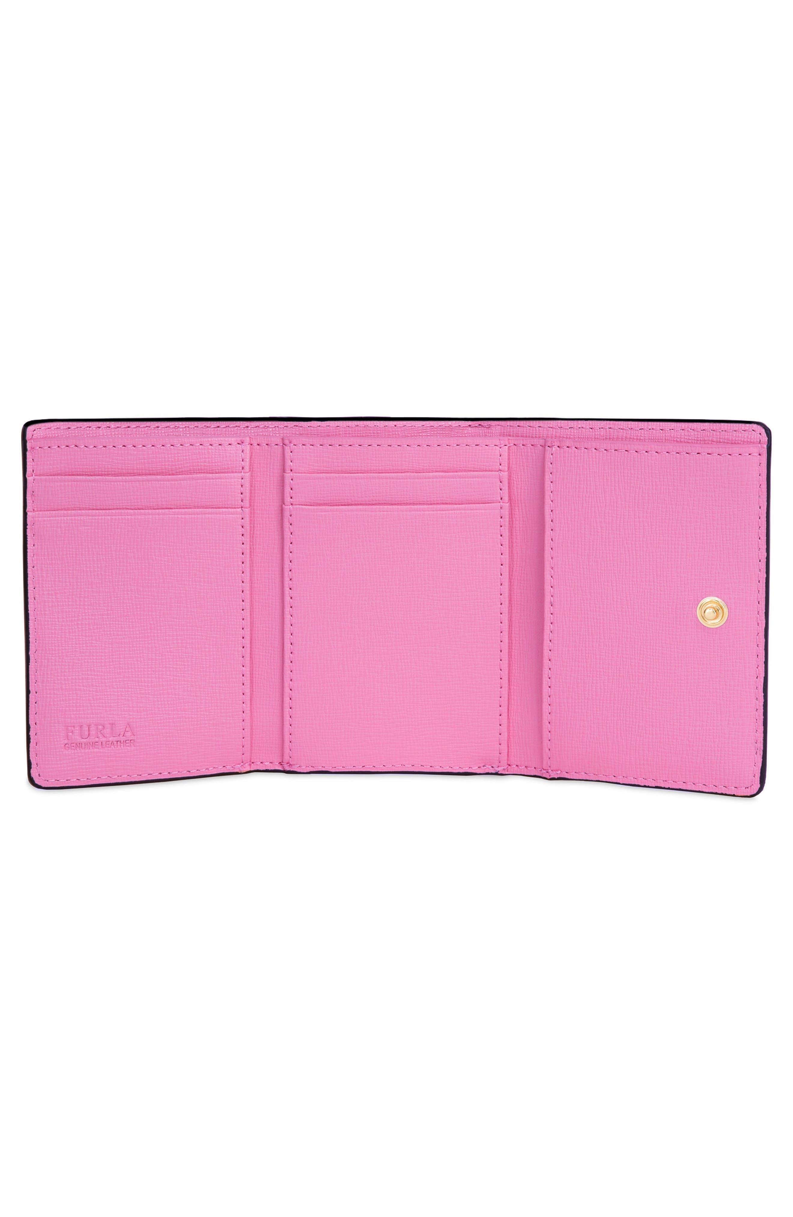 Babylon Saffiano Leather Trifold Wallet,                             Alternate thumbnail 2, color,                             Toni Orchidea