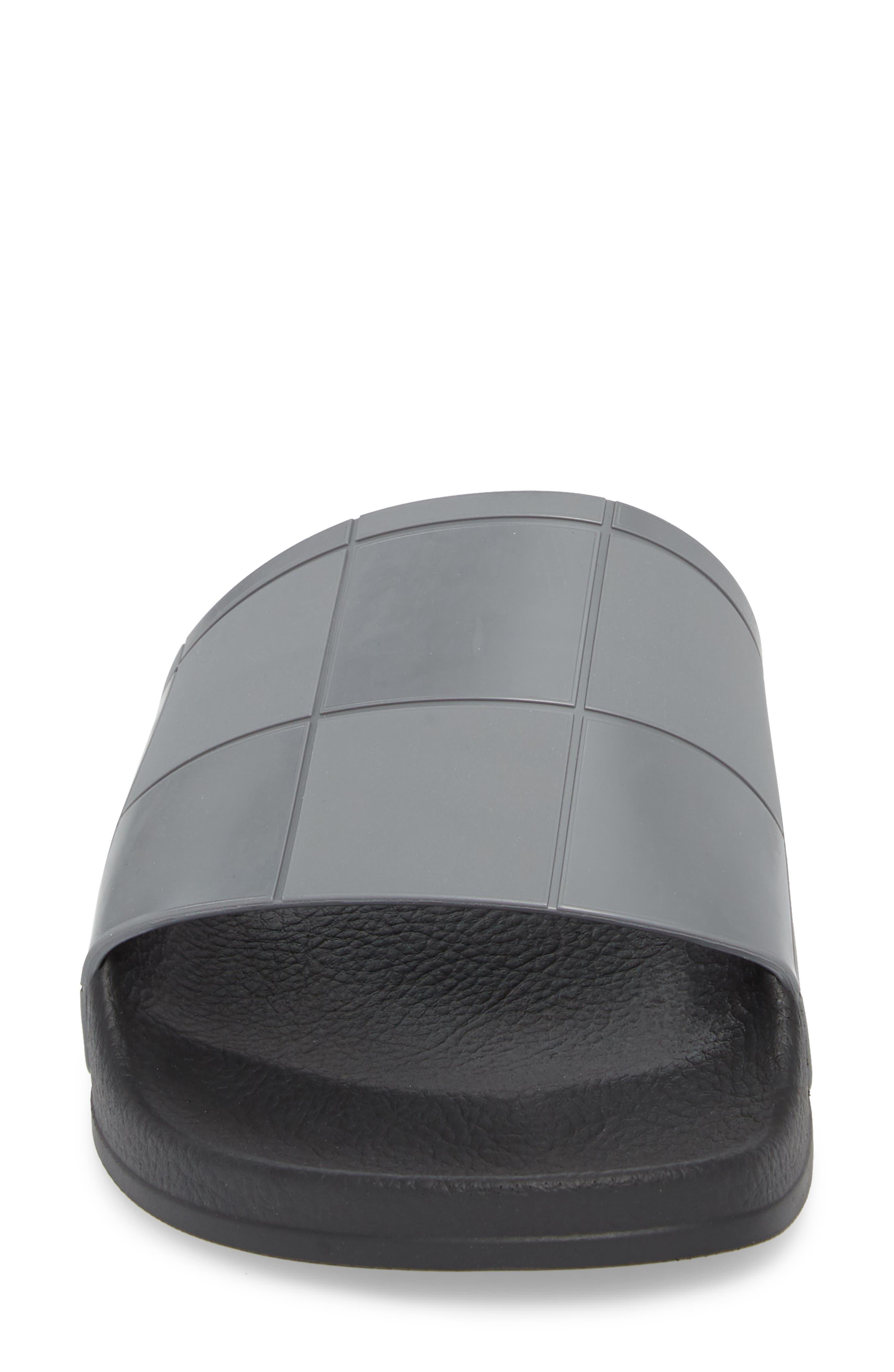 Adilette Slide Sandal,                             Alternate thumbnail 4, color,                             Core Black/ Granite