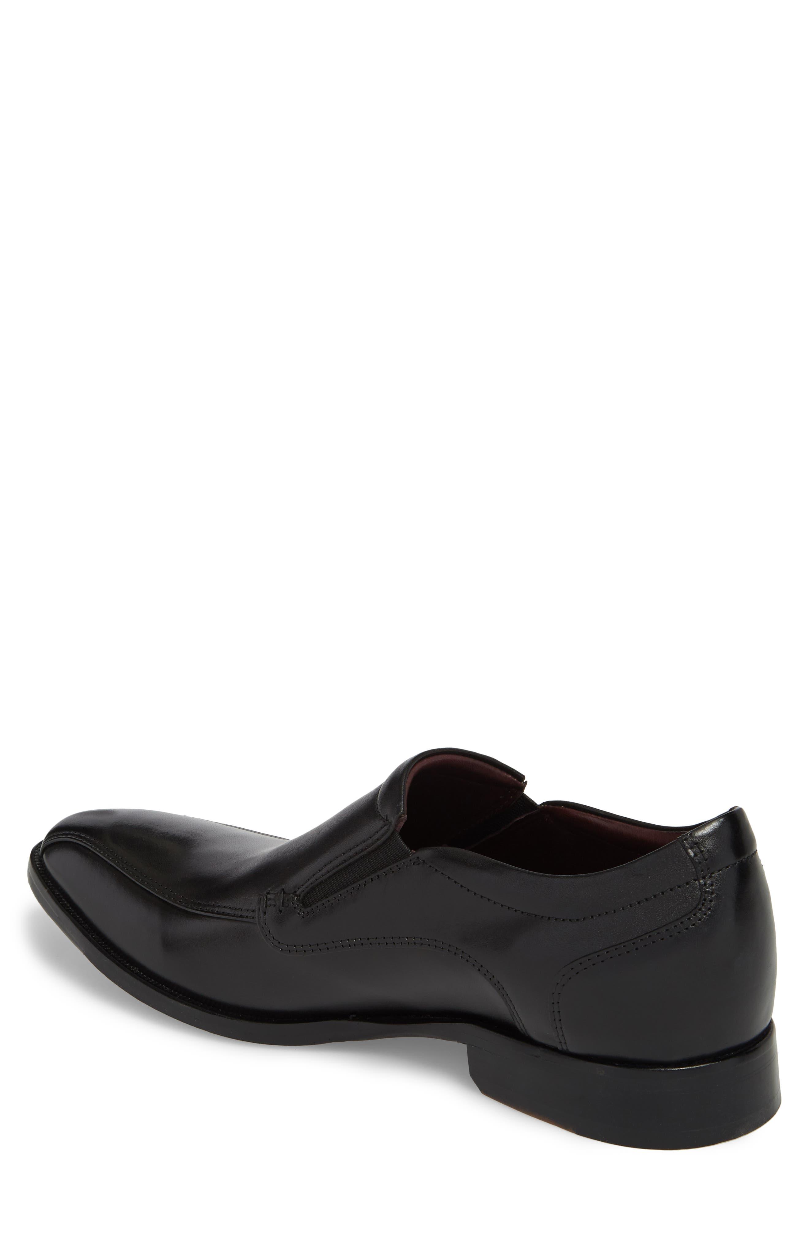 McClain Runoff Bike Toe Slip-On,                             Alternate thumbnail 2, color,                             Black Leather