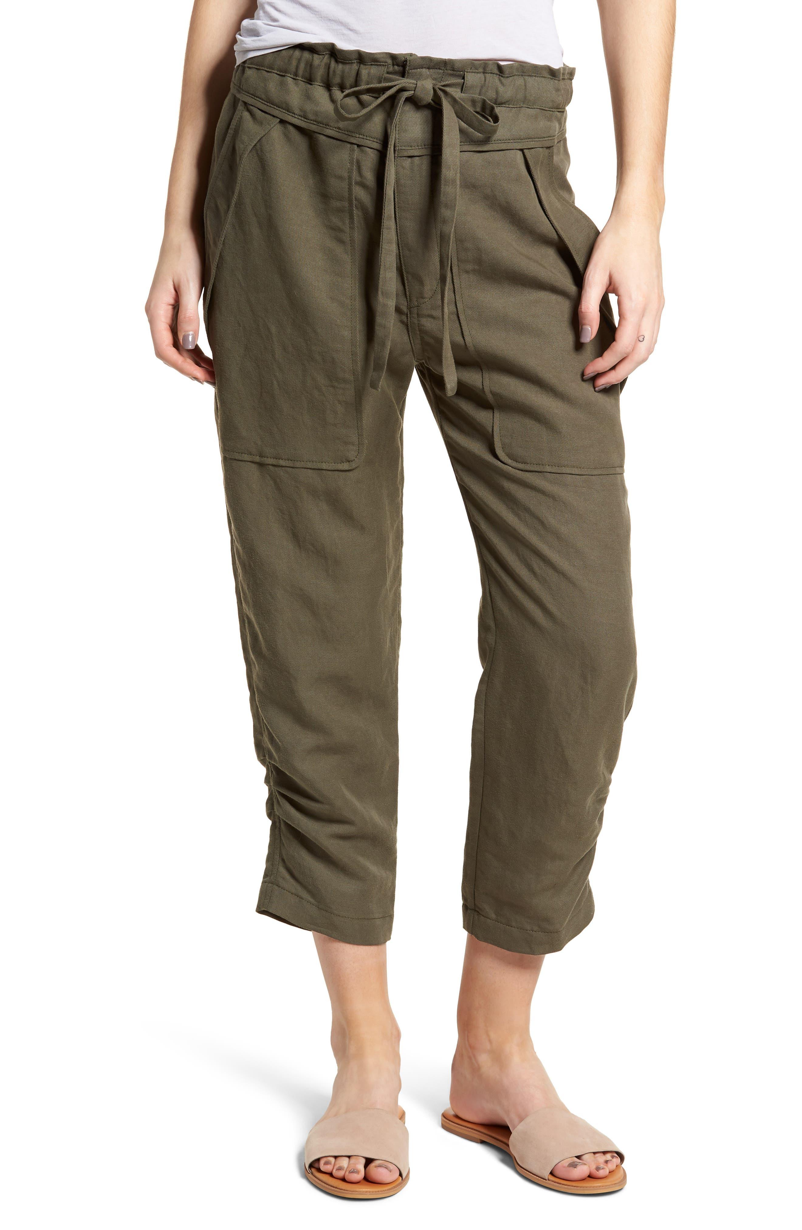 Stellina High Waist Pants,                             Main thumbnail 1, color,                             Verdant