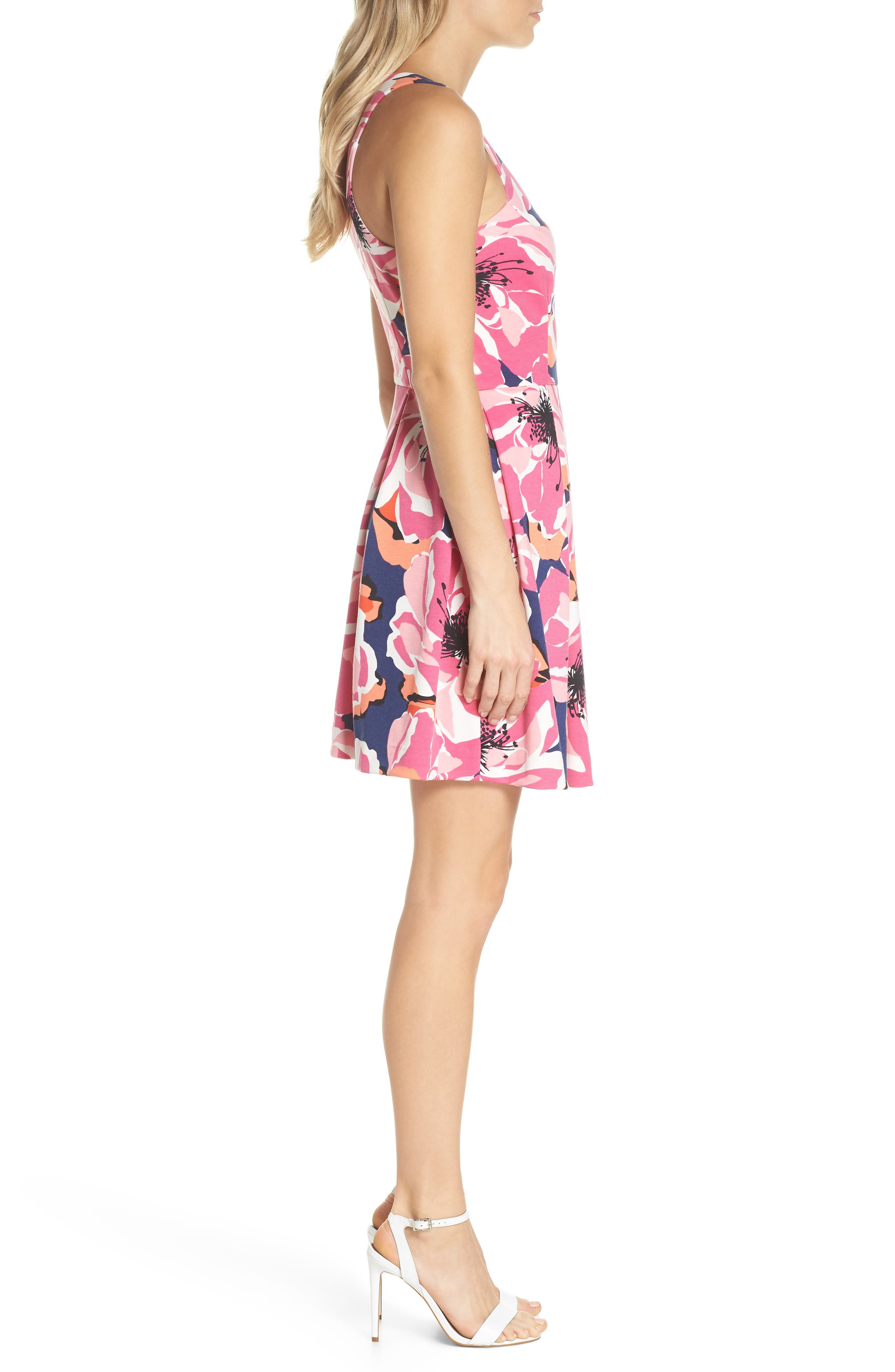 Marcia Sleeveless Fit & Flare Dress,                             Alternate thumbnail 3, color,                             Multi