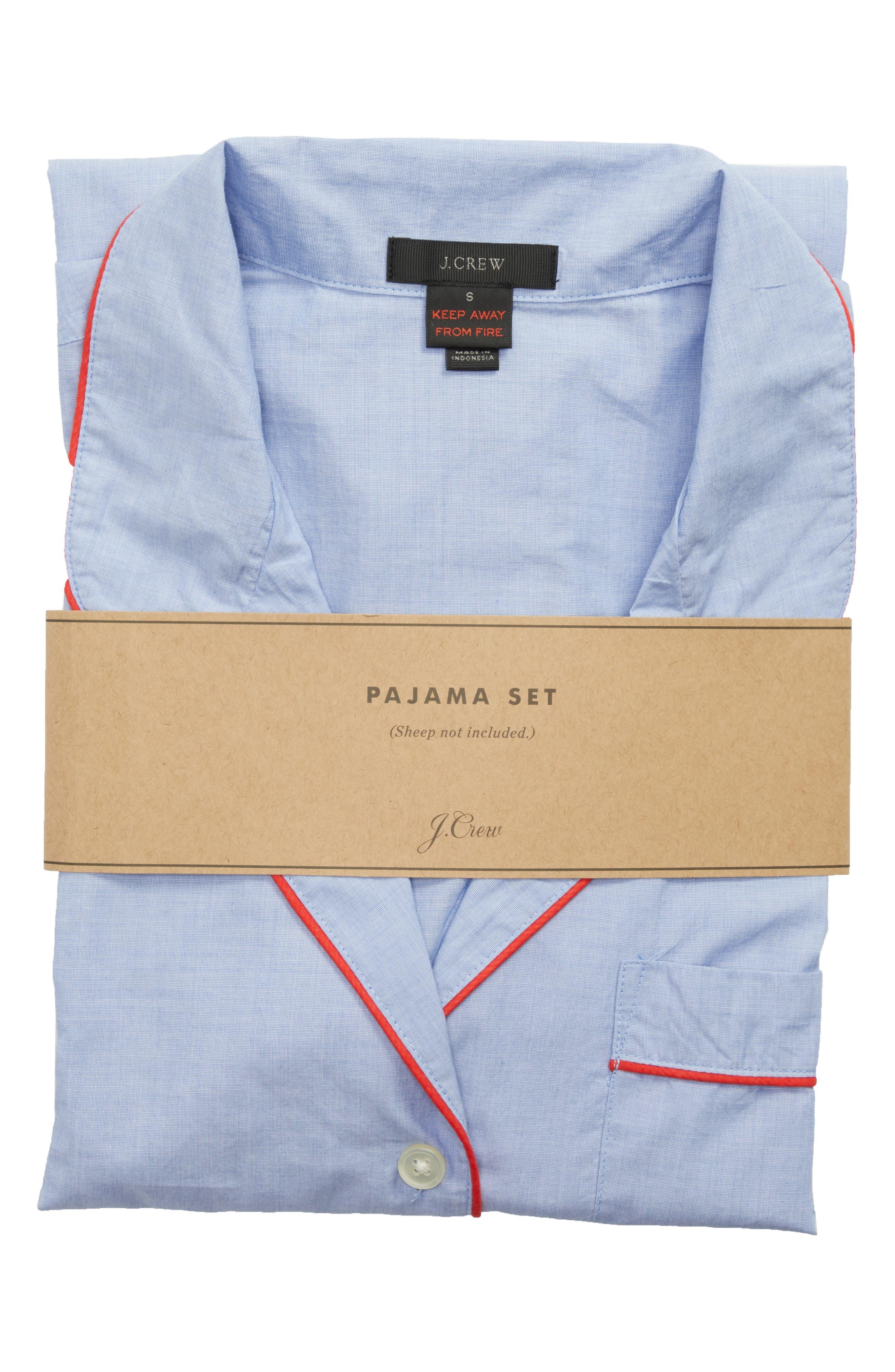 Tipped Pajama Set,                             Alternate thumbnail 4, color,                             Hydrangea