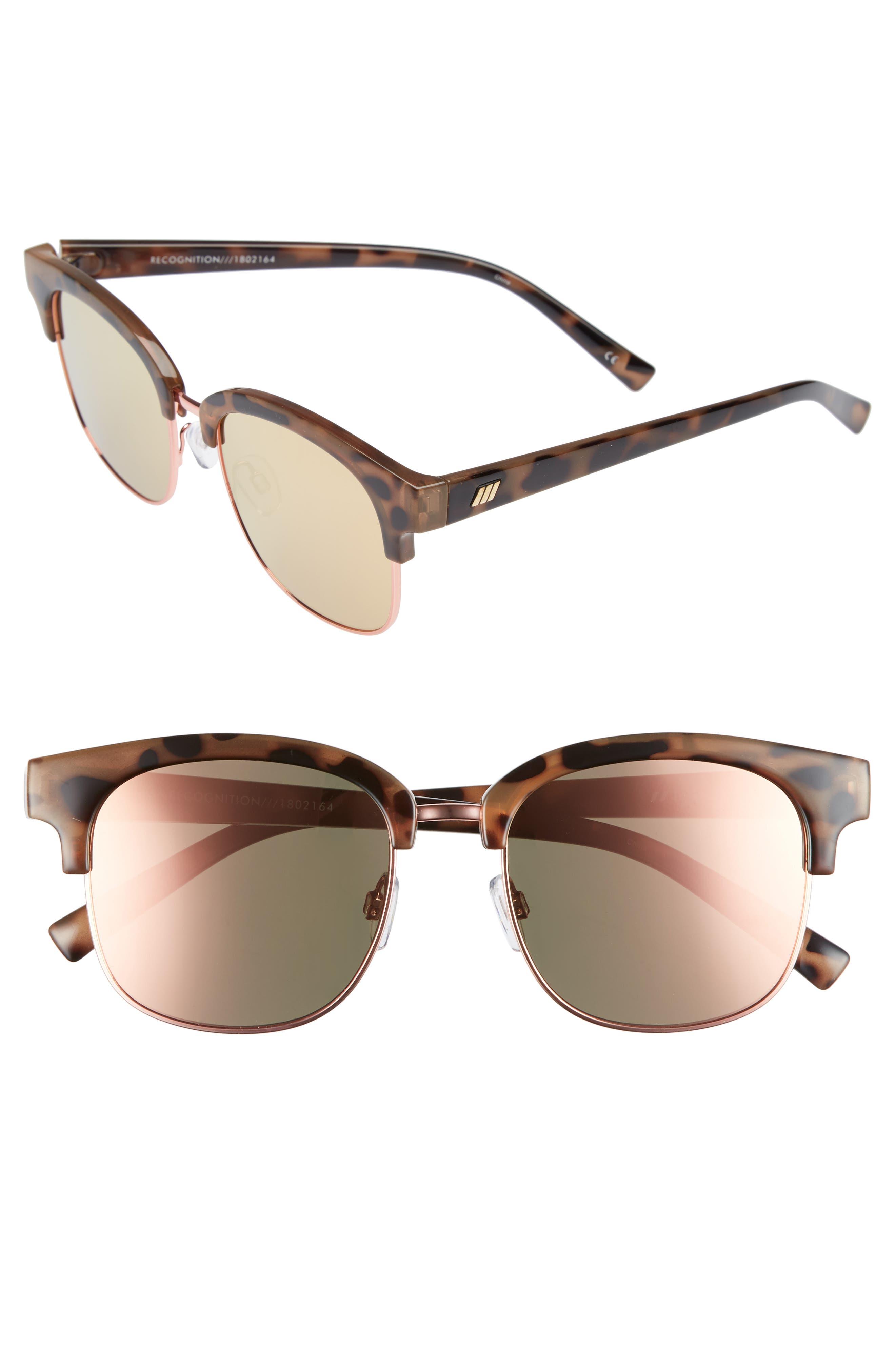 Recognition 53mm Sunglasses,                             Main thumbnail 1, color,                             Apricot Tortoise