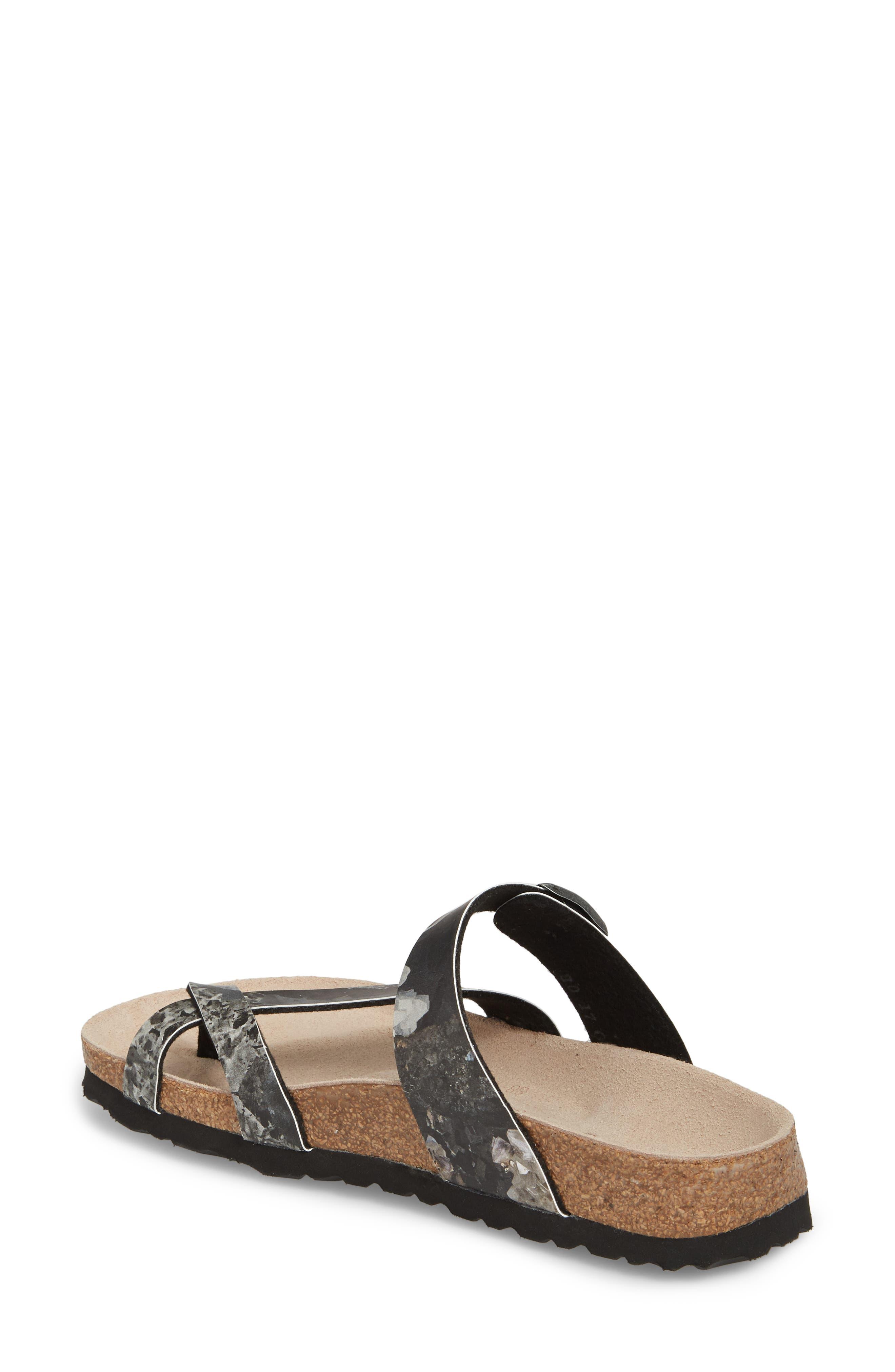 Papillio by Birkenstock Tabora Birko-Flor Slide Sandal,                             Alternate thumbnail 2, color,                             Crystal Black Leather