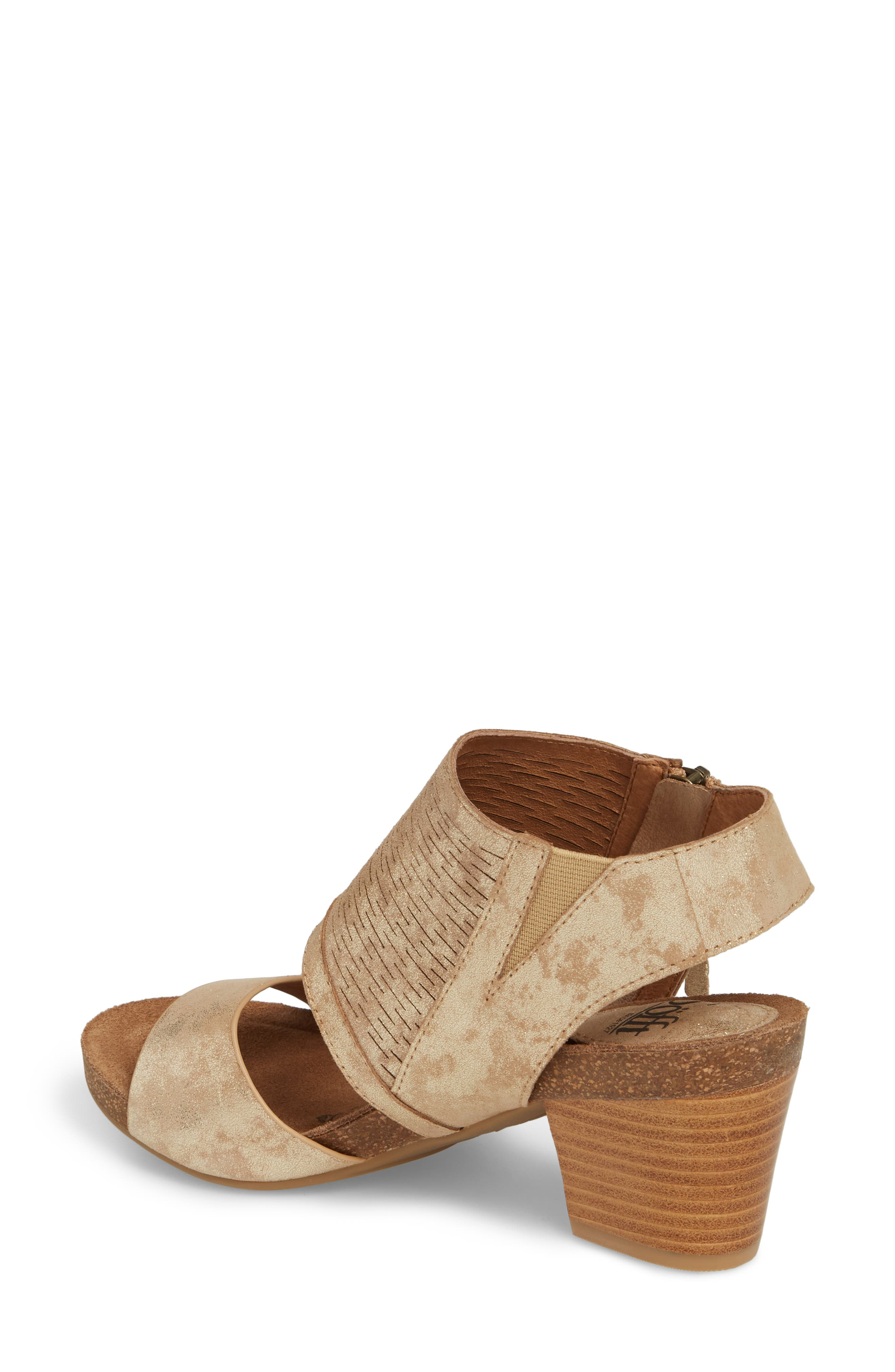 Milan Block Heel Sandal,                             Alternate thumbnail 2, color,                             Platino Distressed Foil Suede