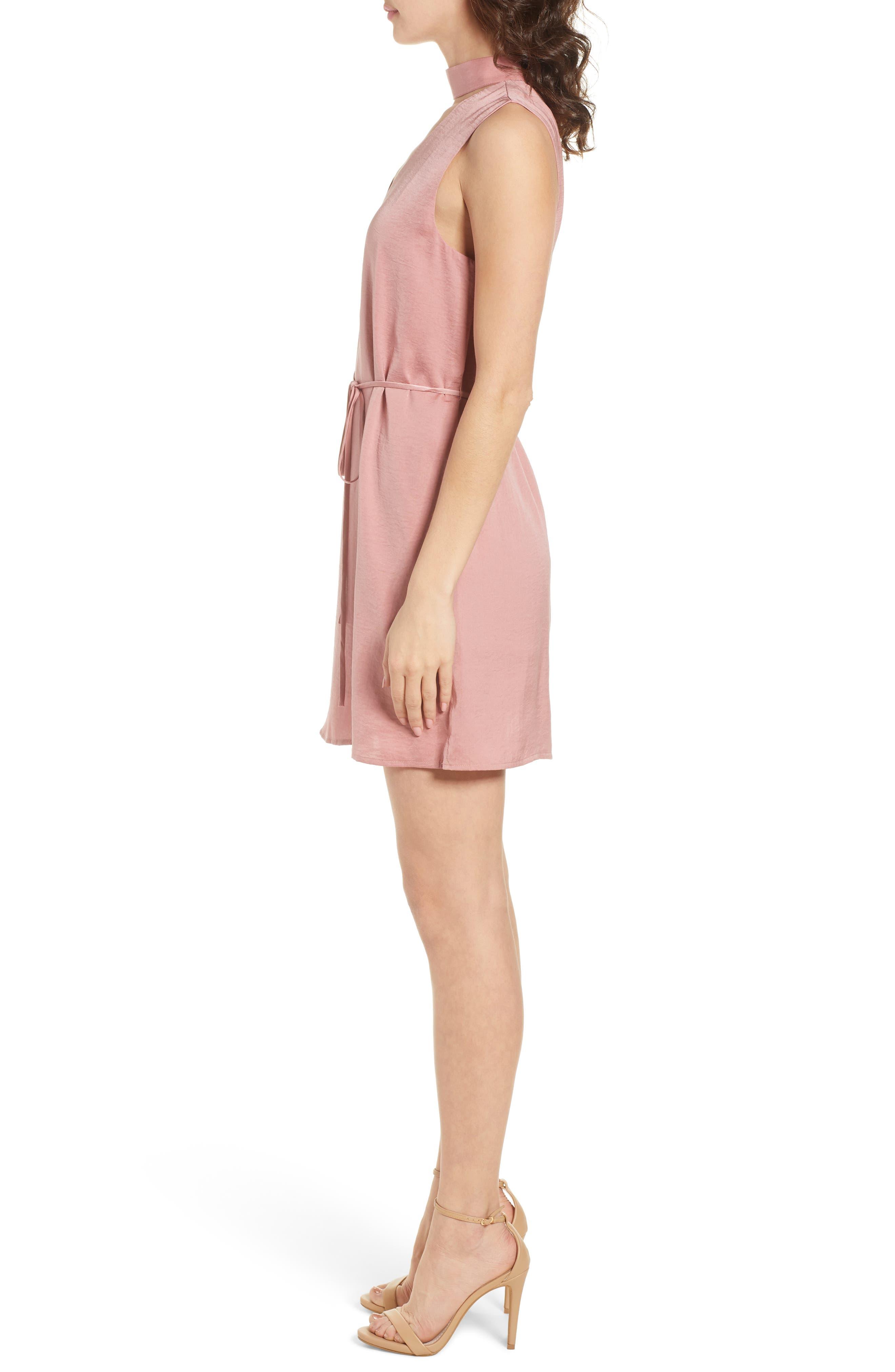 Hansel Sleeveless Dress,                             Alternate thumbnail 3, color,                             Faded Rose