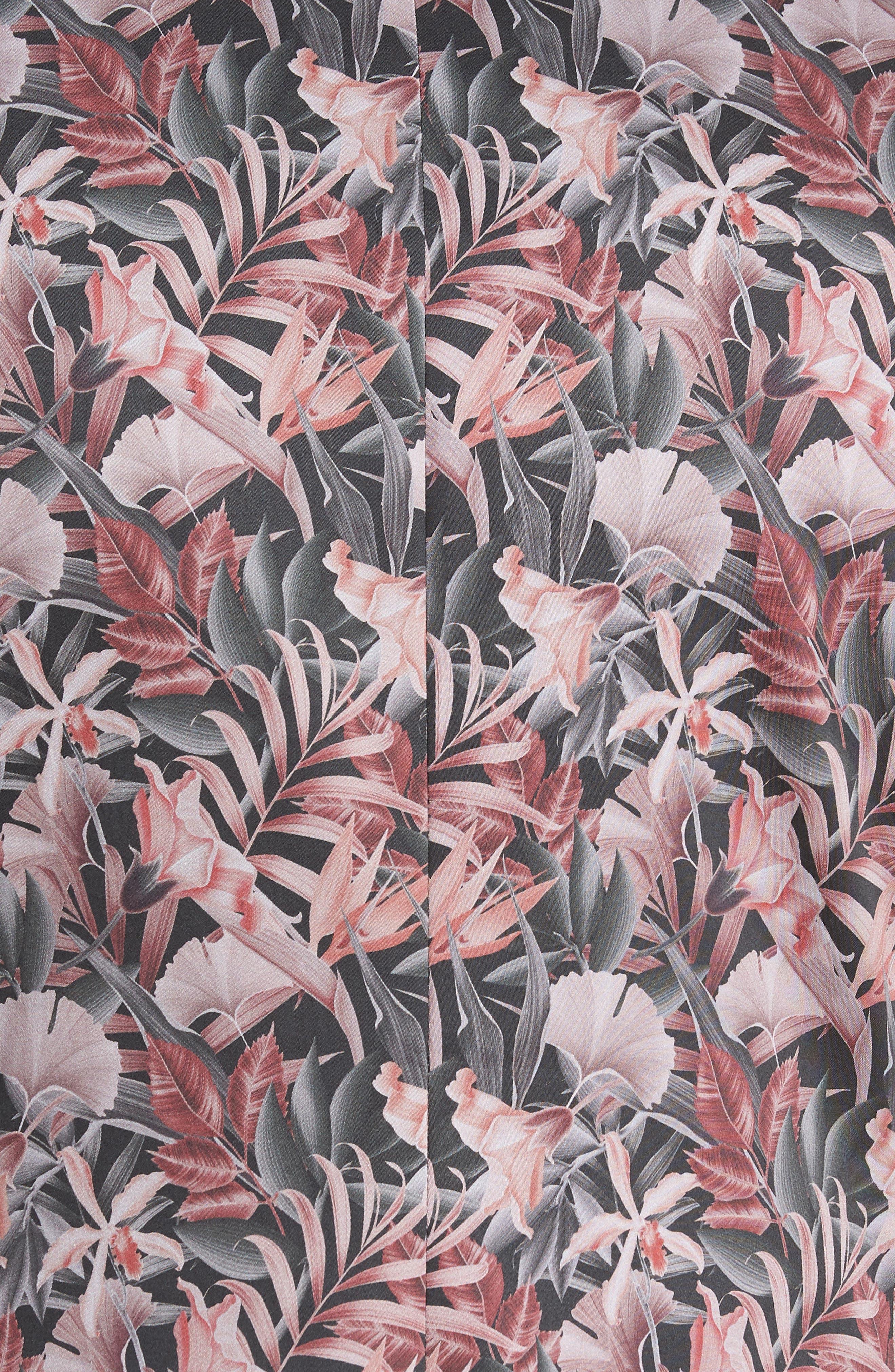 Ultra Skinny Fit Hibiscus Print Suit Jacket,                             Alternate thumbnail 5, color,                             Pink Multi