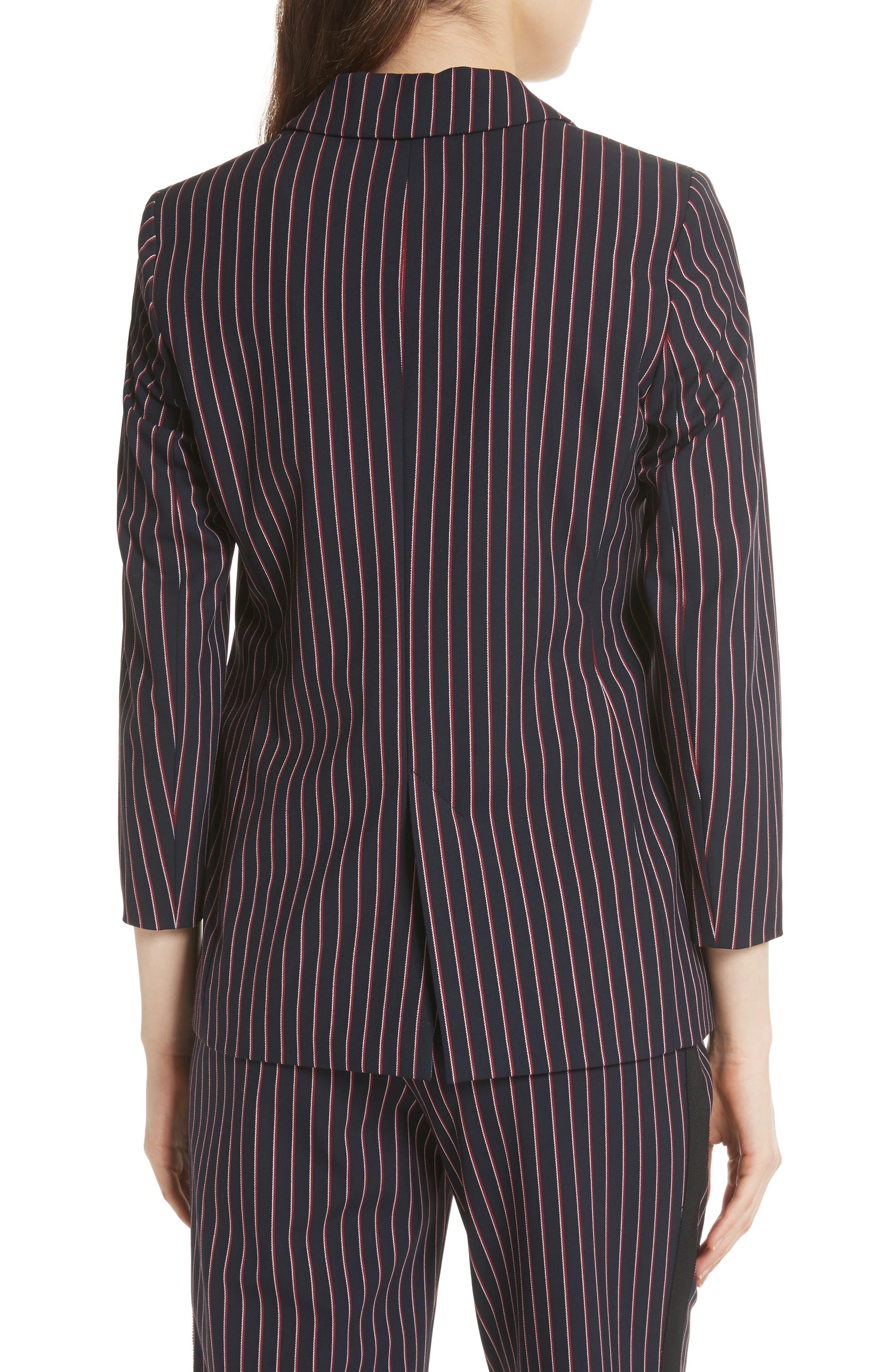 Pinstripe Suit Jacket,                             Alternate thumbnail 2, color,                             Navy
