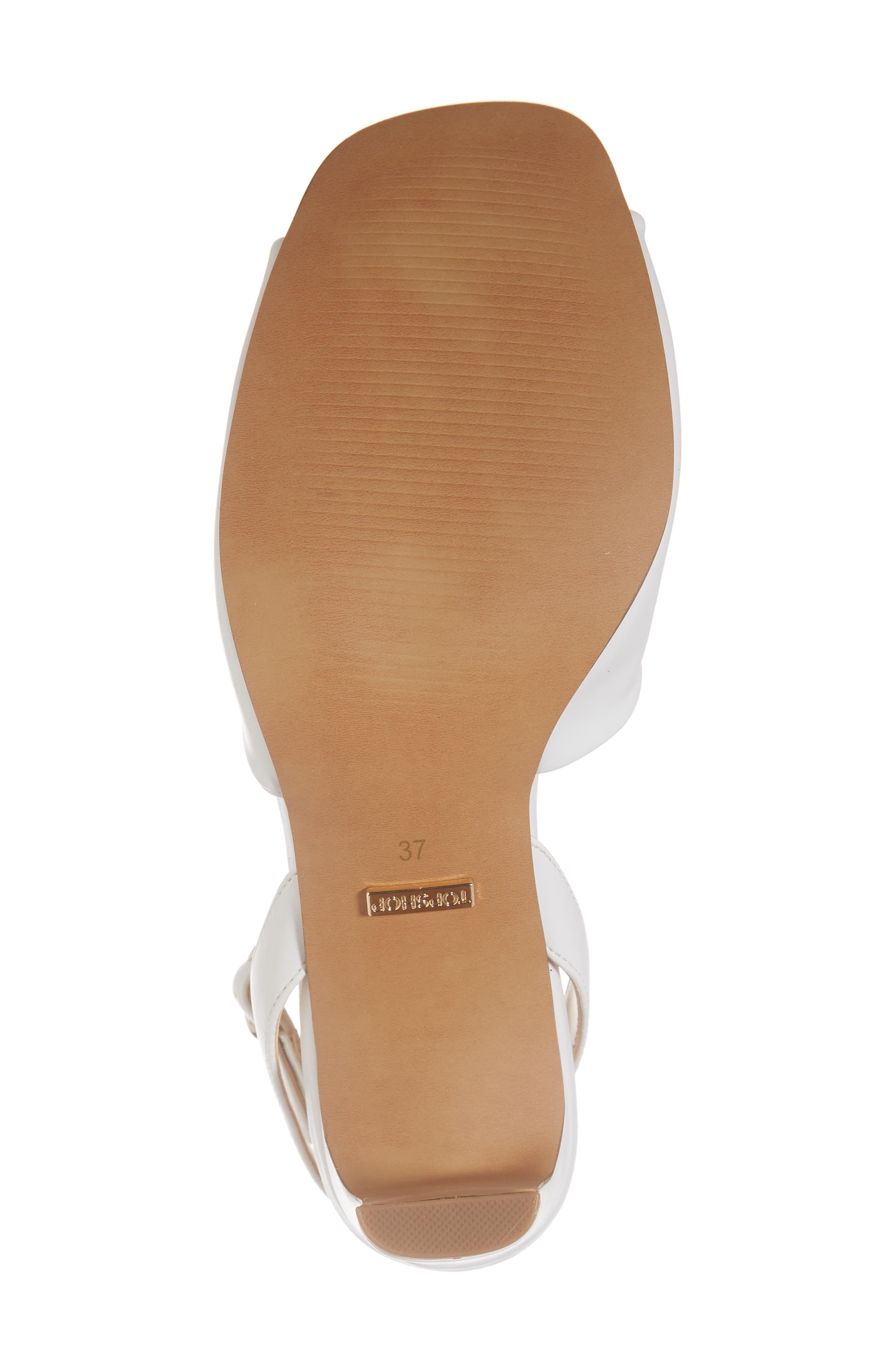 Raven Skinny Heel Sandal,                             Alternate thumbnail 6, color,                             White