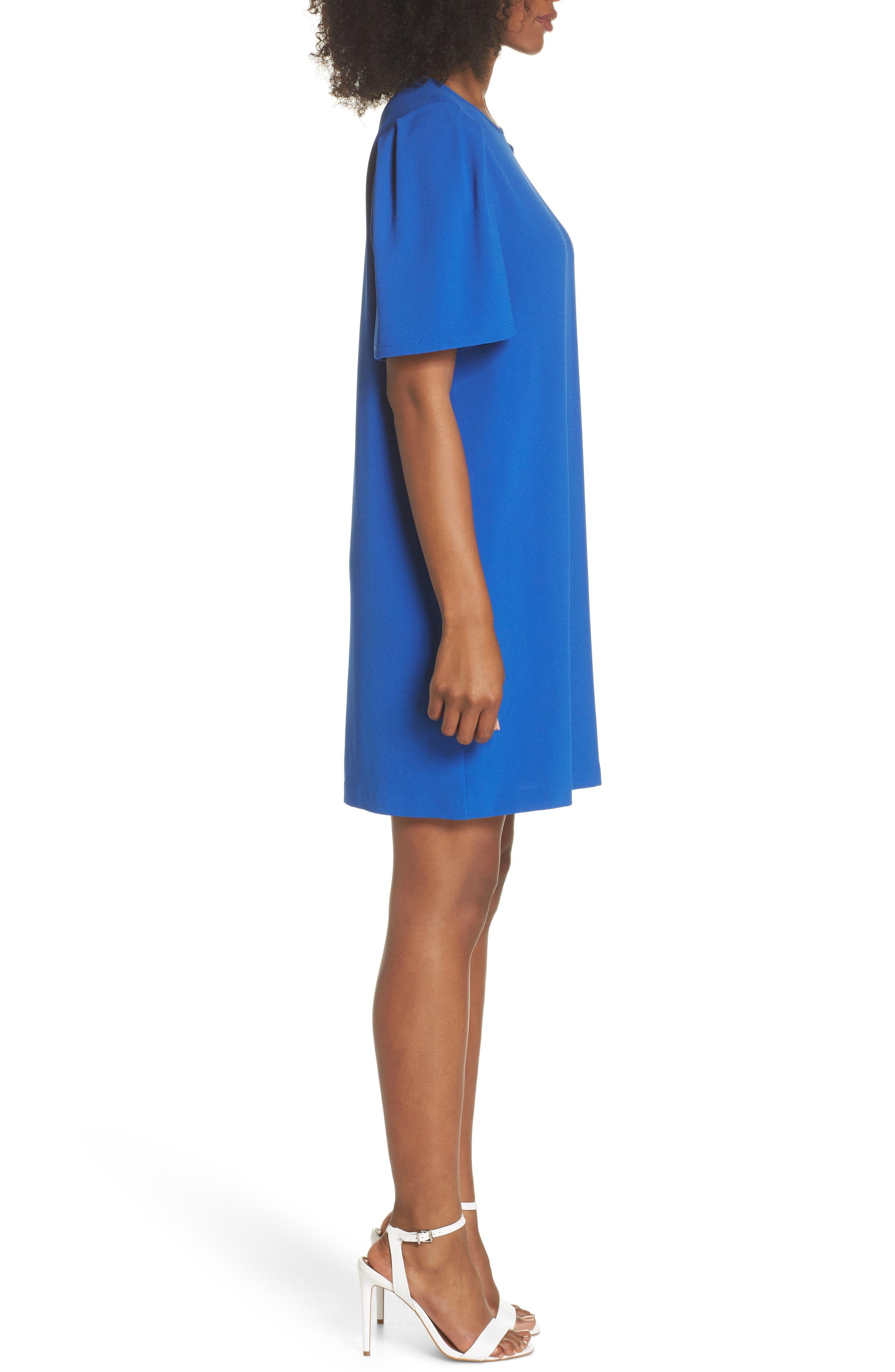 Anya Shift Dress,                             Alternate thumbnail 3, color,                             Cobalt