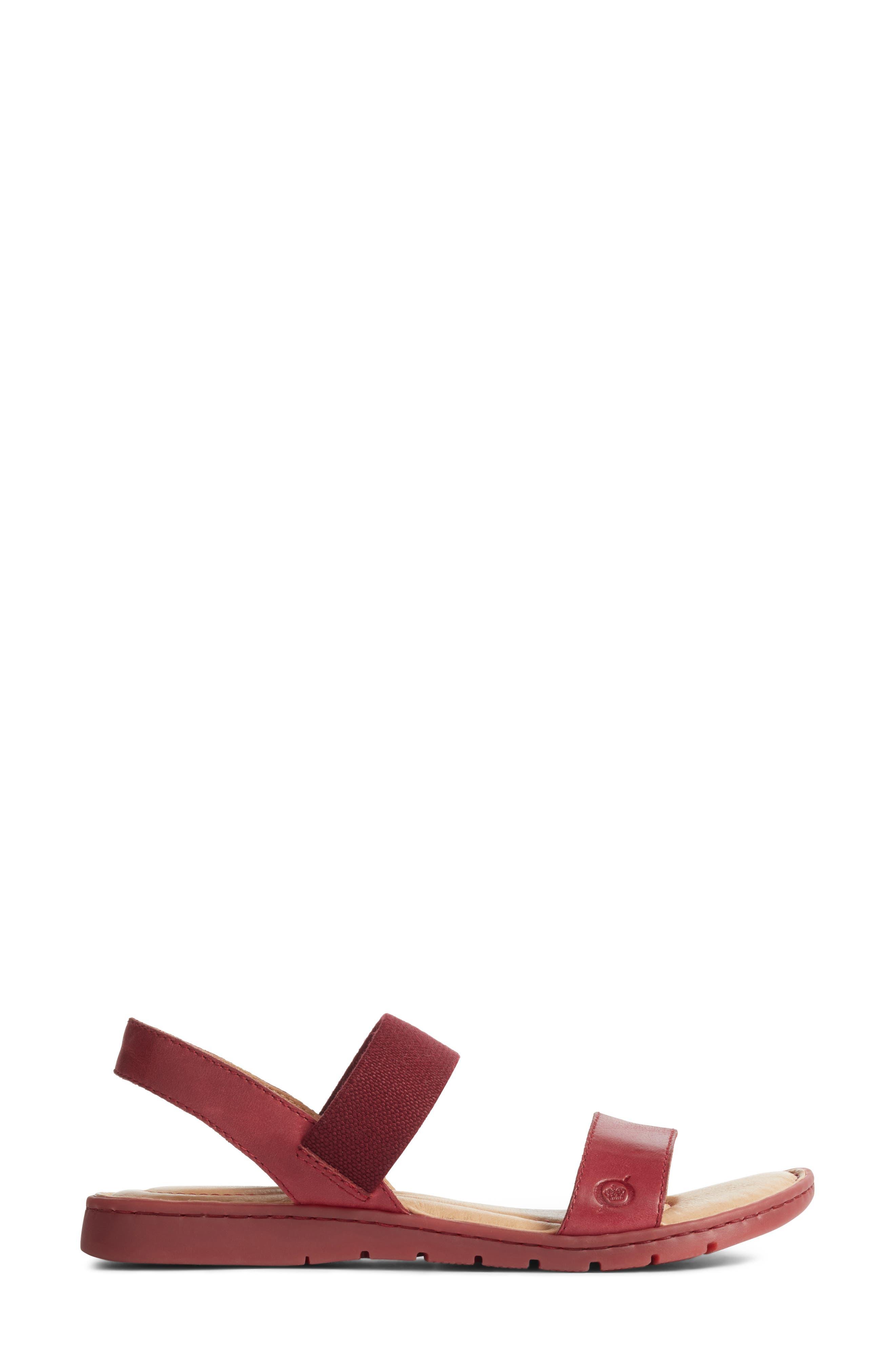 Börn Elstar Sandal,                             Alternate thumbnail 3, color,                             Red Leather