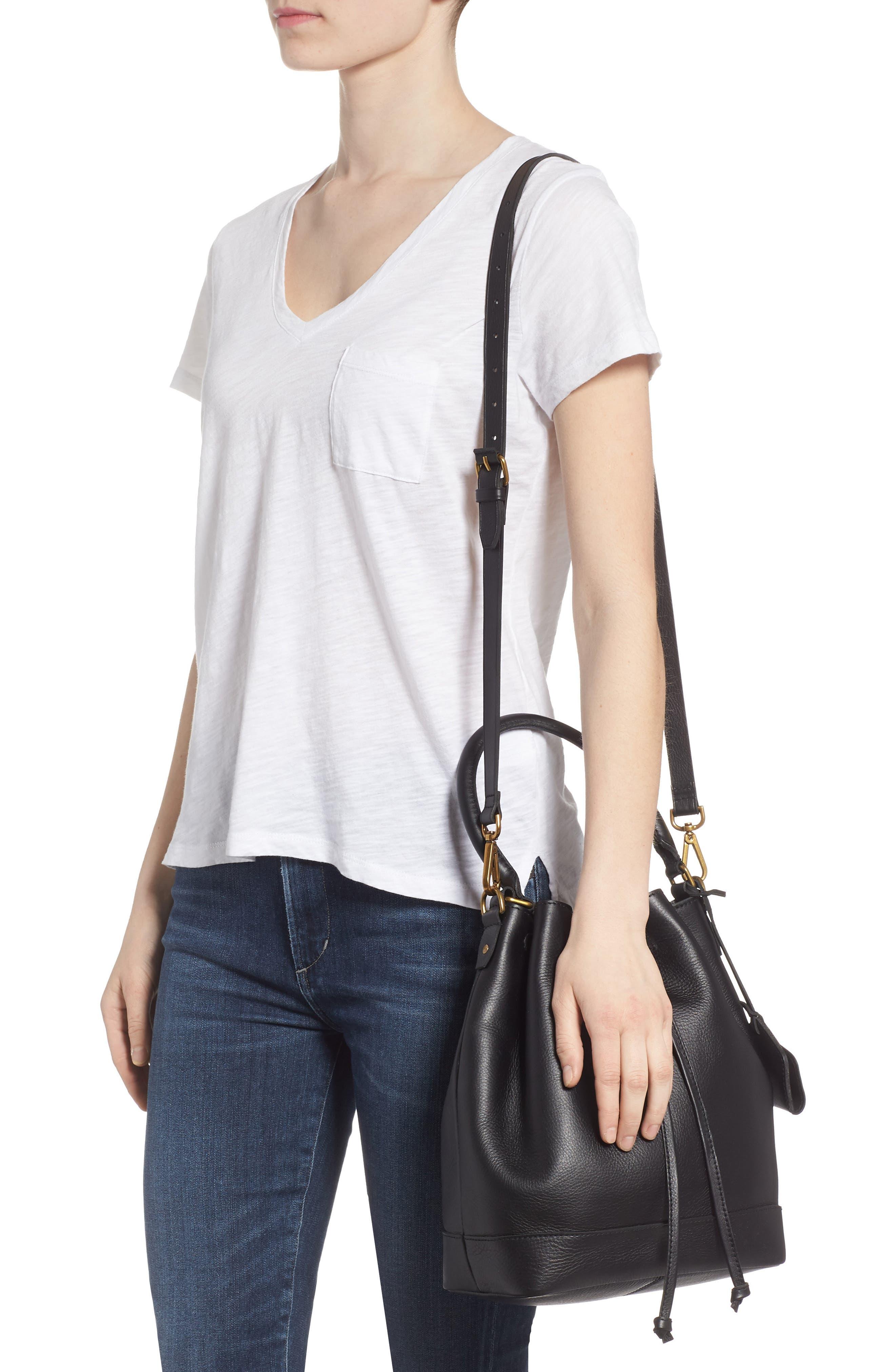 Lafayette Leather Bucket Bag,                             Alternate thumbnail 2, color,                             True Black