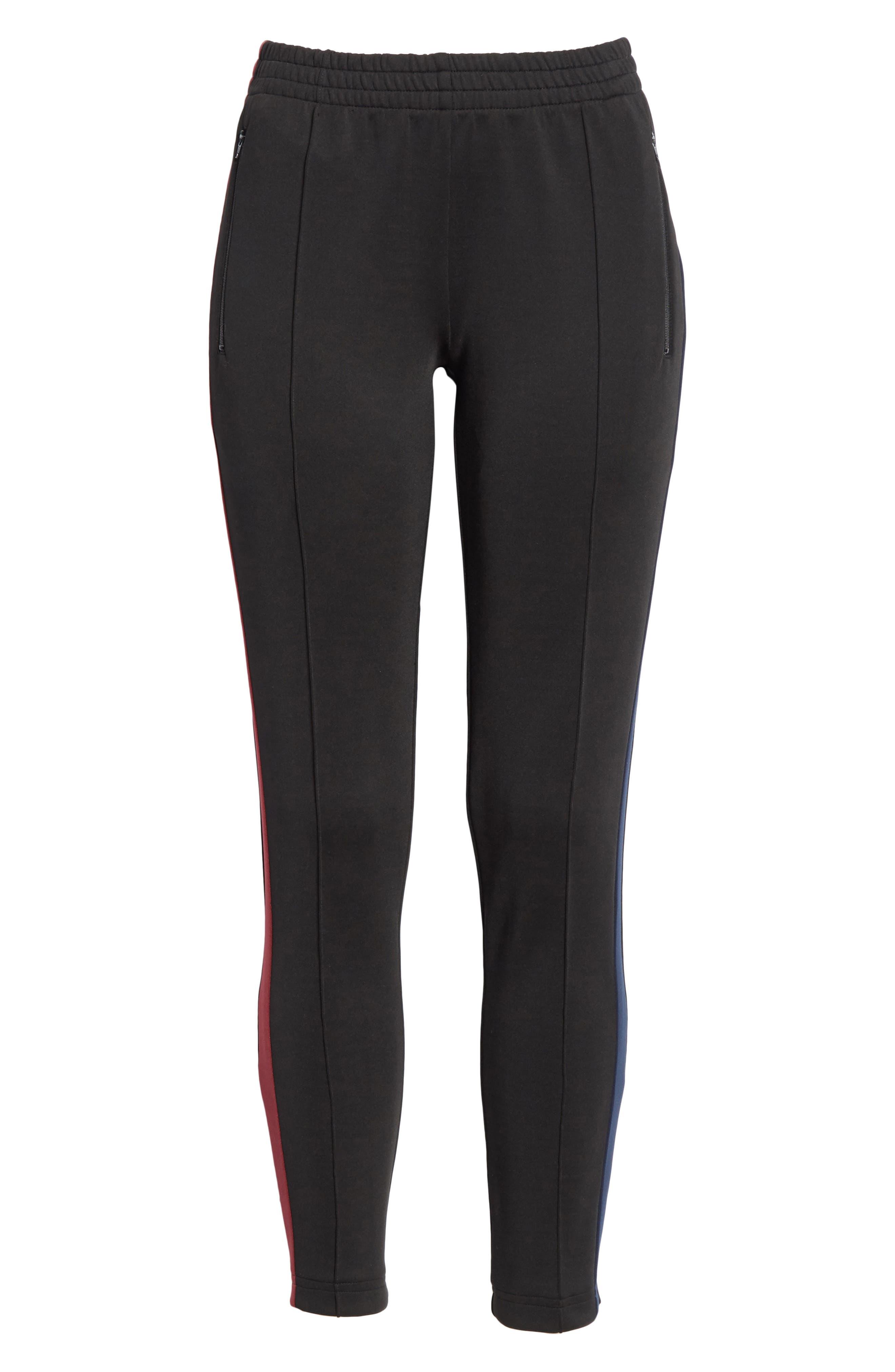Tricot Track Pants,                             Alternate thumbnail 6, color,                             Black