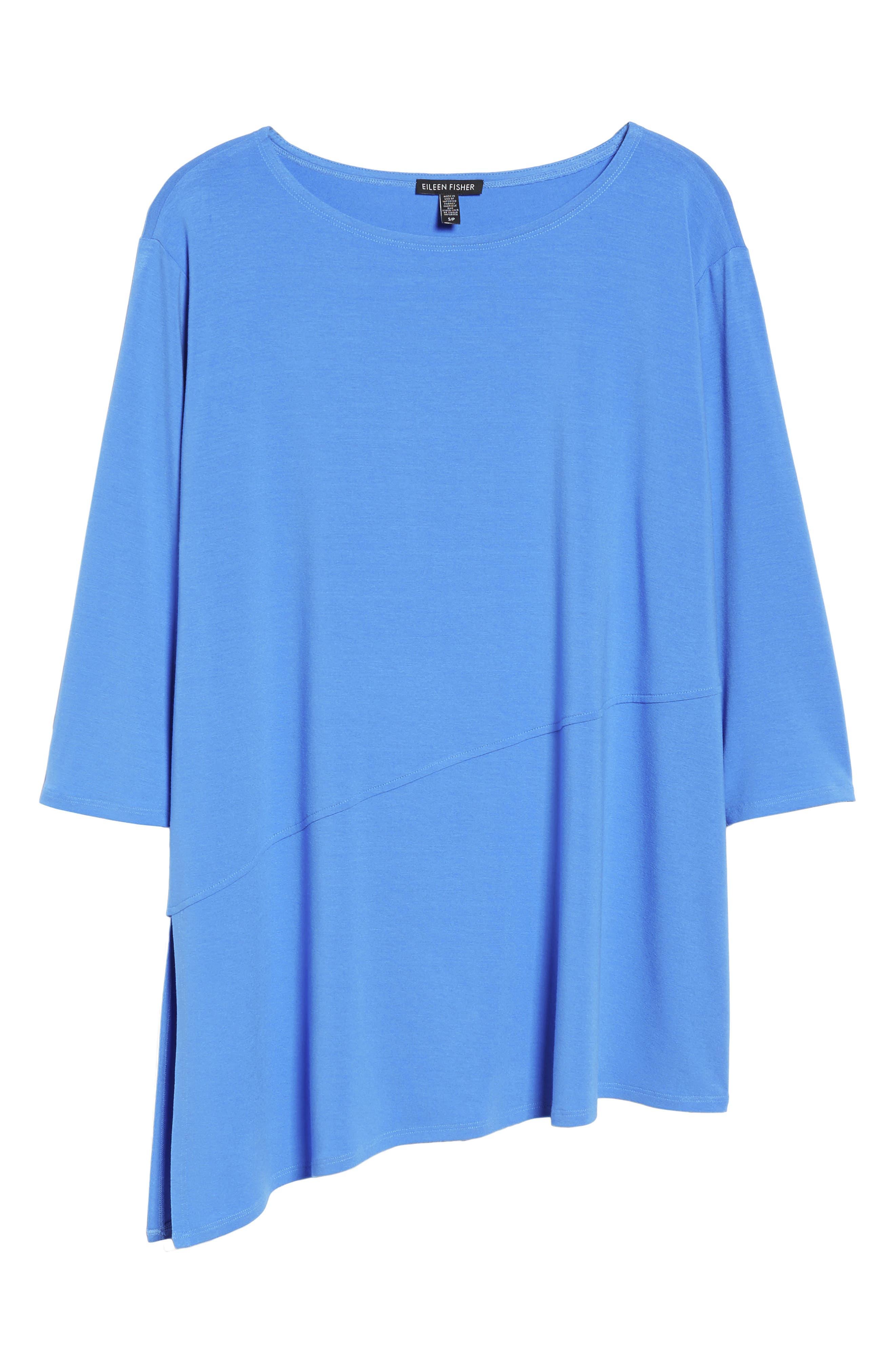 Asymmetrical Jersey Top,                             Alternate thumbnail 6, color,                             Blue Bell