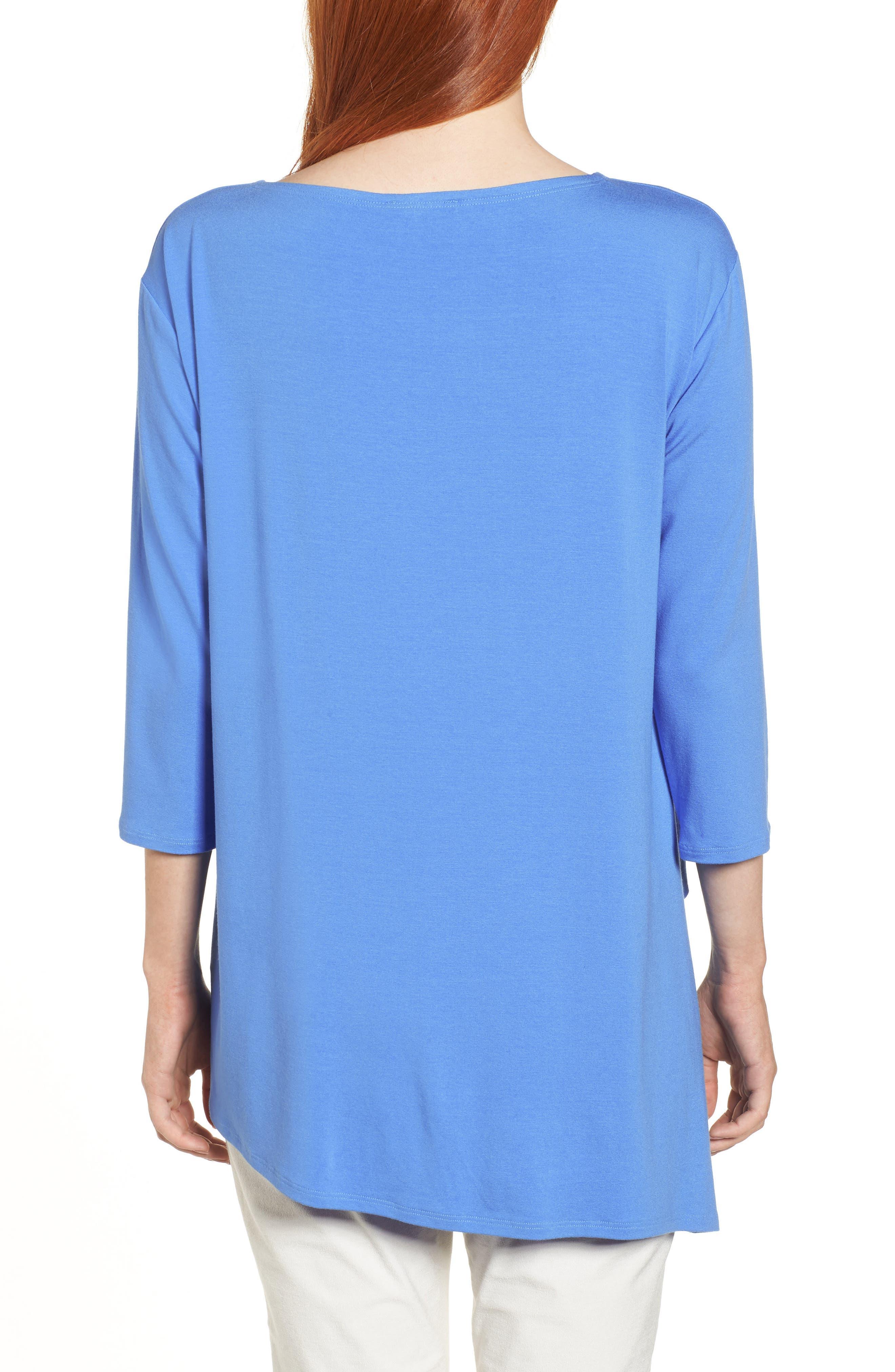Asymmetrical Jersey Top,                             Alternate thumbnail 2, color,                             Blue Bell