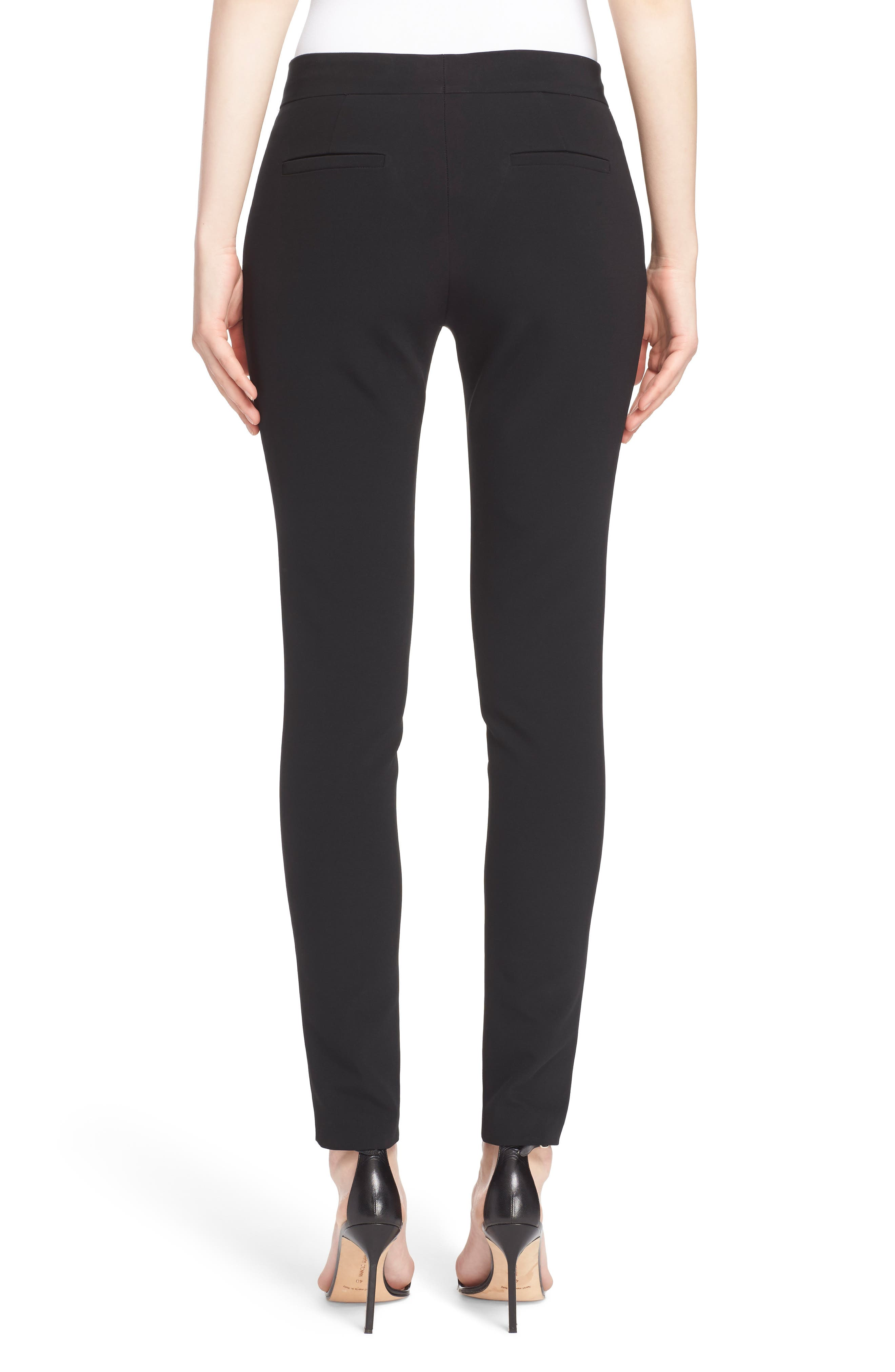 Crop Bi-Stretch Pants,                             Alternate thumbnail 2, color,                             Black