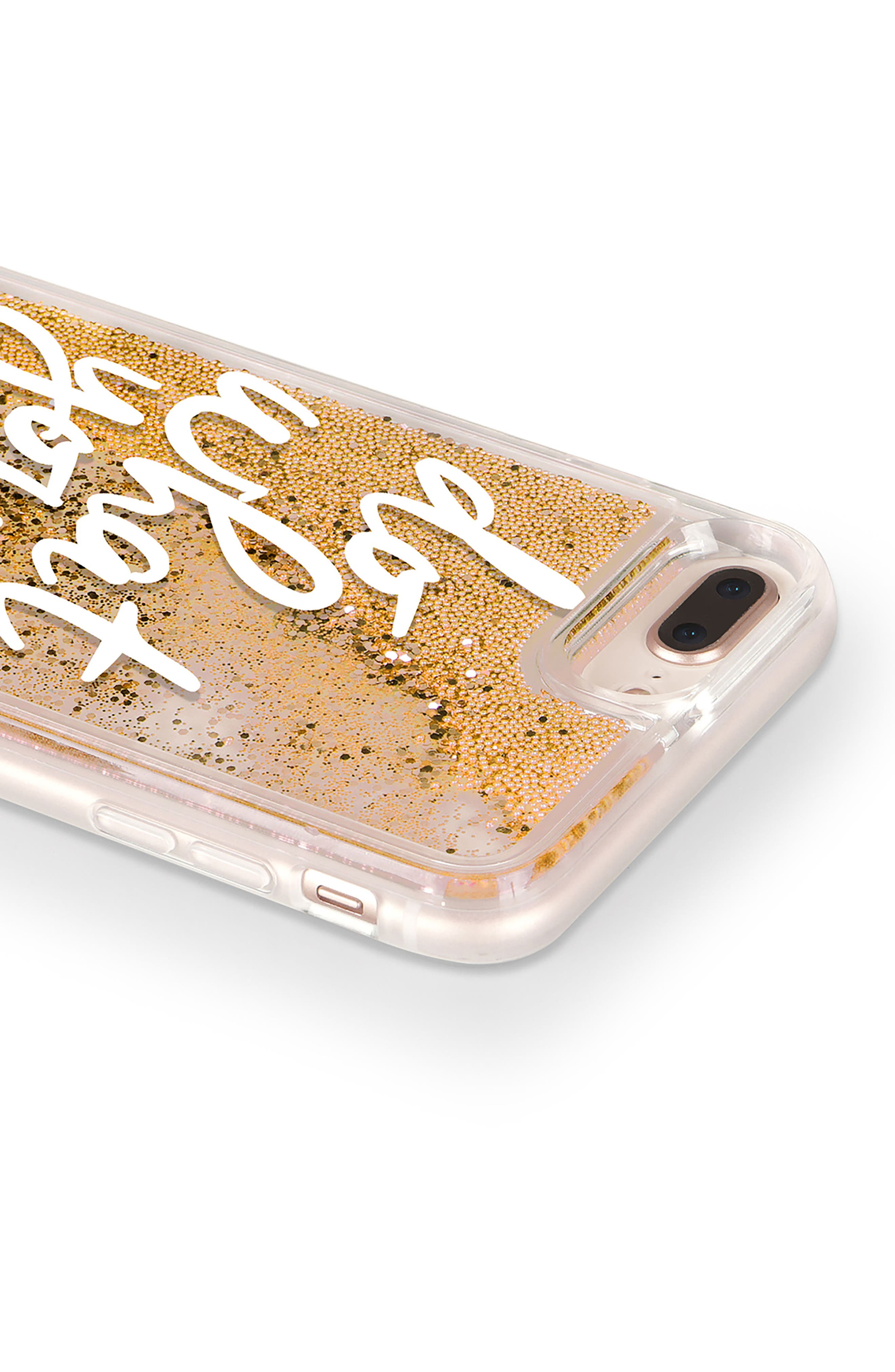 Do What You Love iPhone 7/8 & 7/8 Plus Case,                             Alternate thumbnail 5, color,                             White And Gold