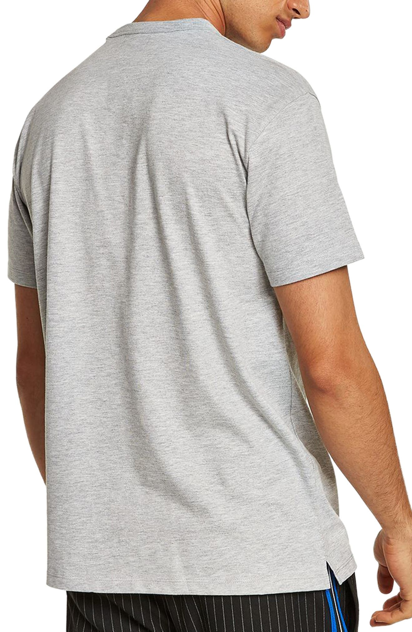 Oversize Embroidered Easy T-Shirt,                             Alternate thumbnail 2, color,                             Grey