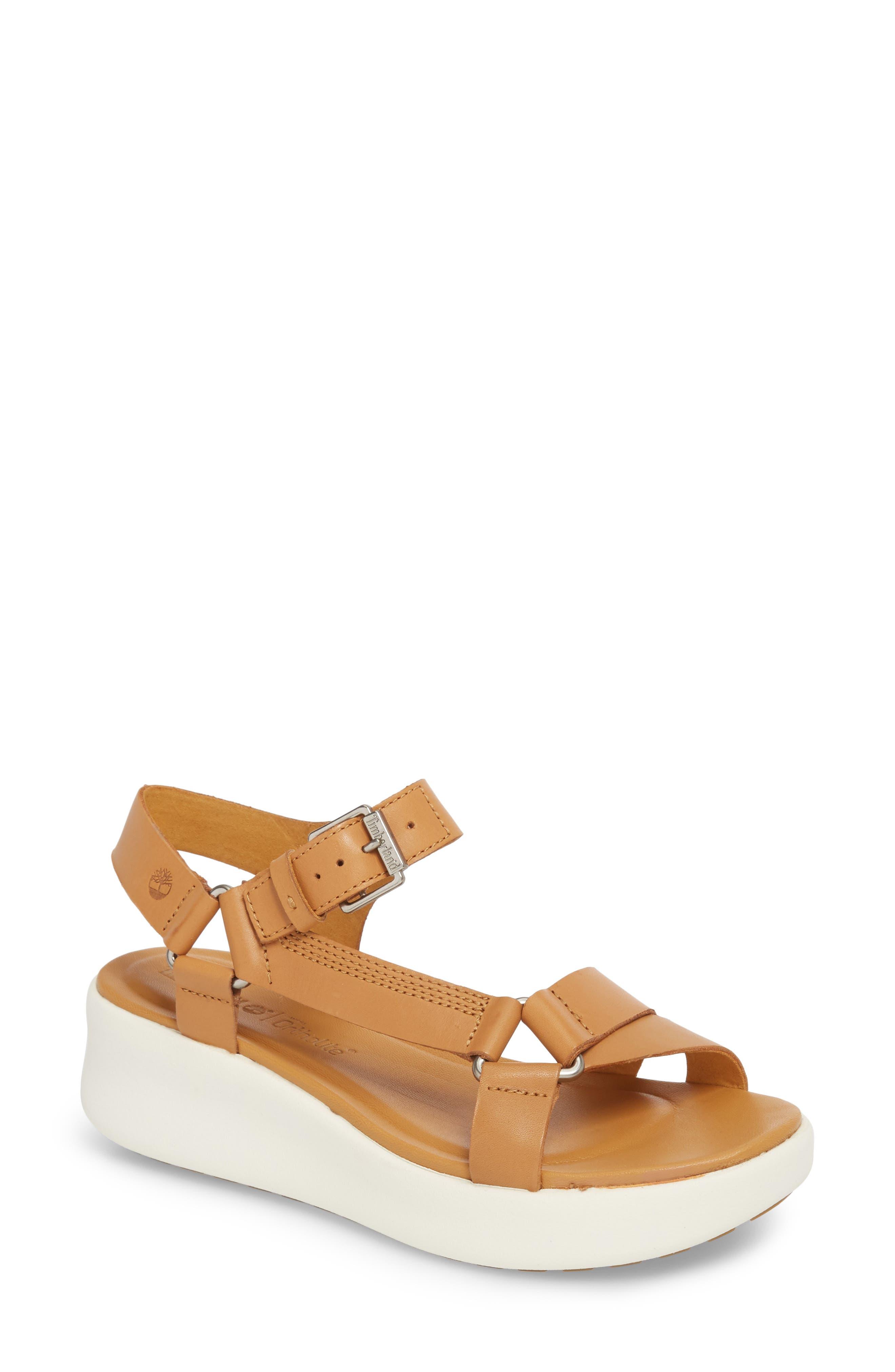 Los Angeles Wind Sport Sandal,                         Main,                         color, Medium Brown Leather