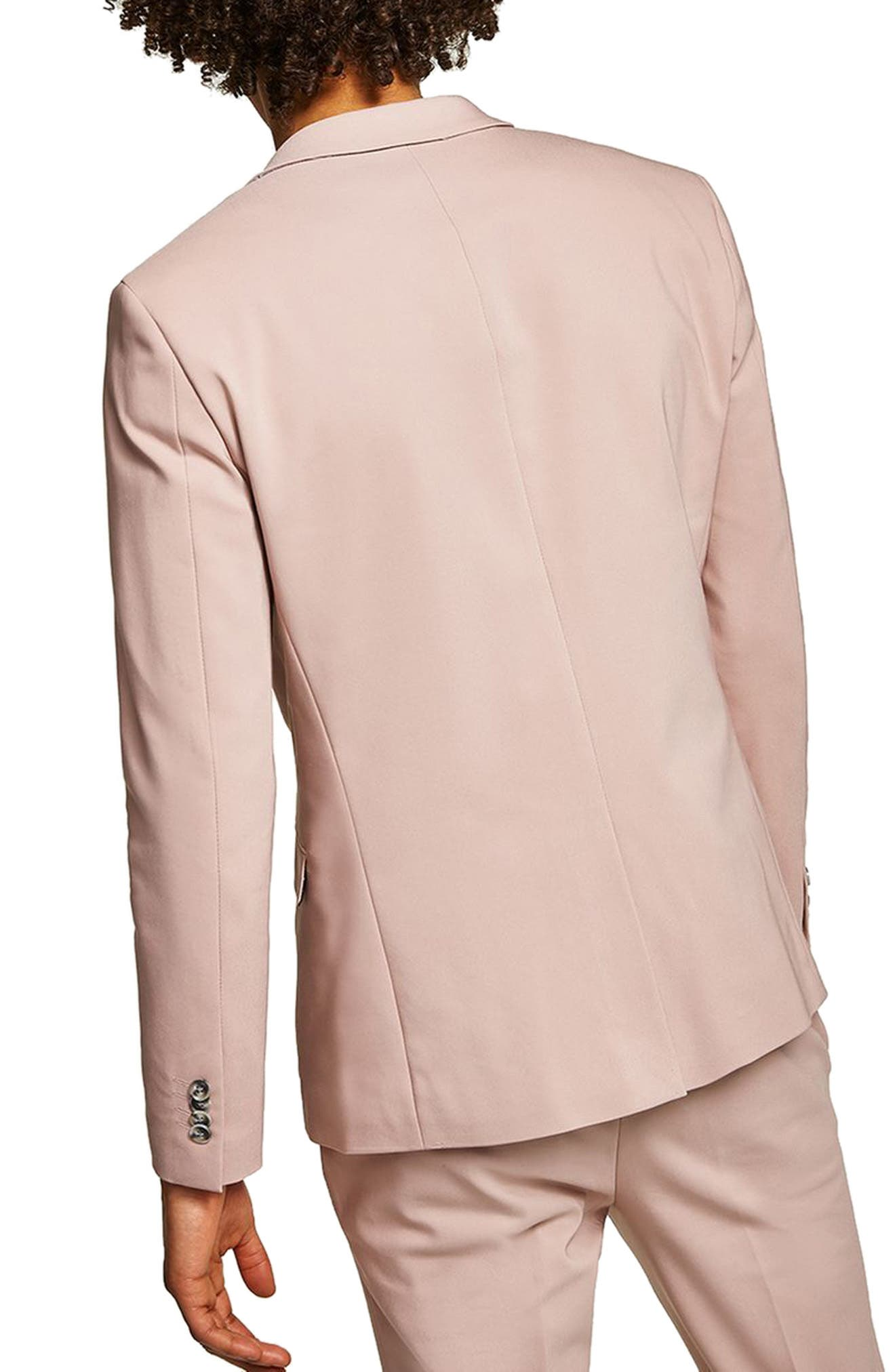 Skinny Fit Suit Jacket,                             Alternate thumbnail 3, color,                             Pink Multi