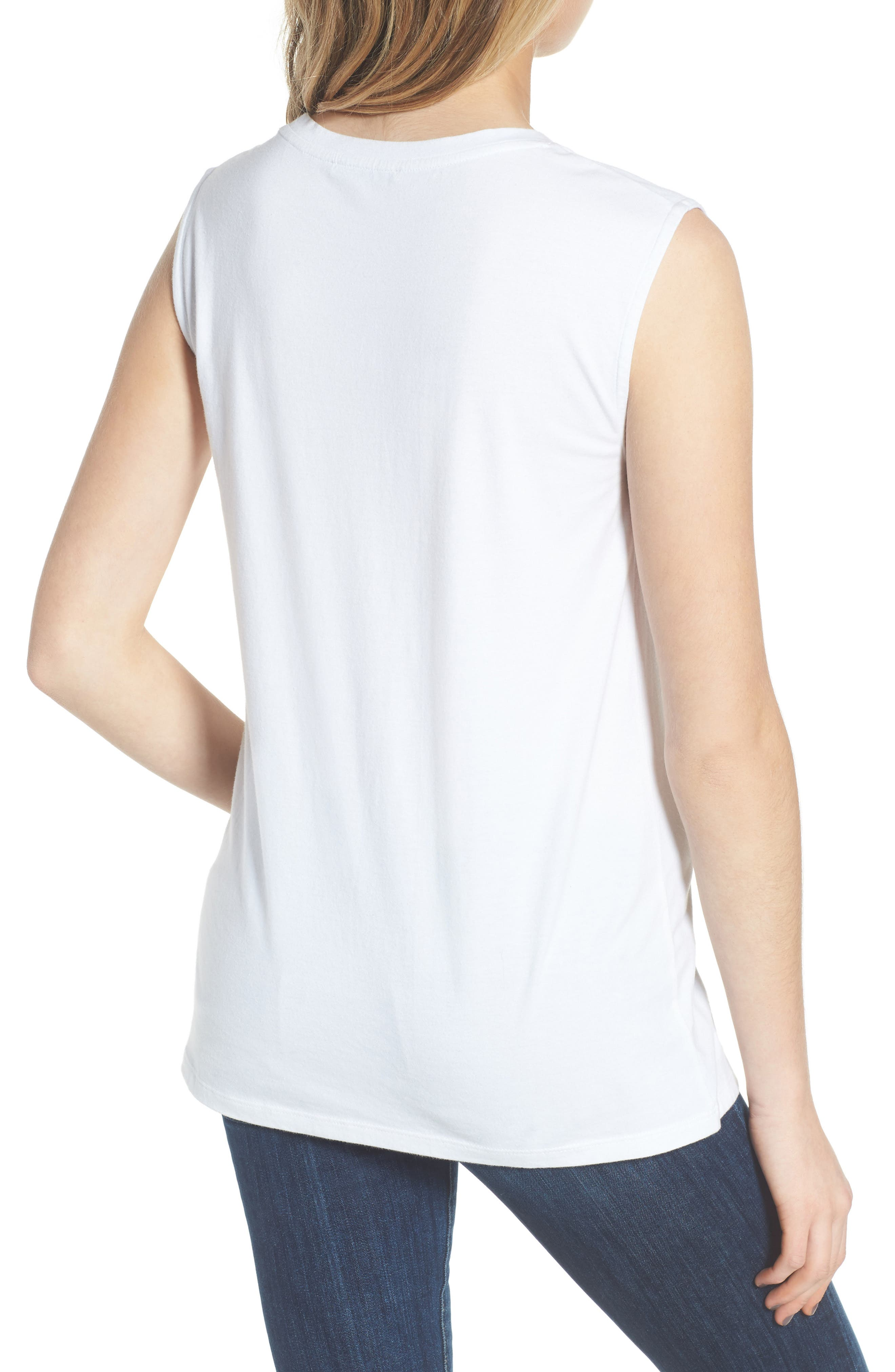 Grl Pwr Muscle Tee,                             Alternate thumbnail 2, color,                             White/ Terracotta