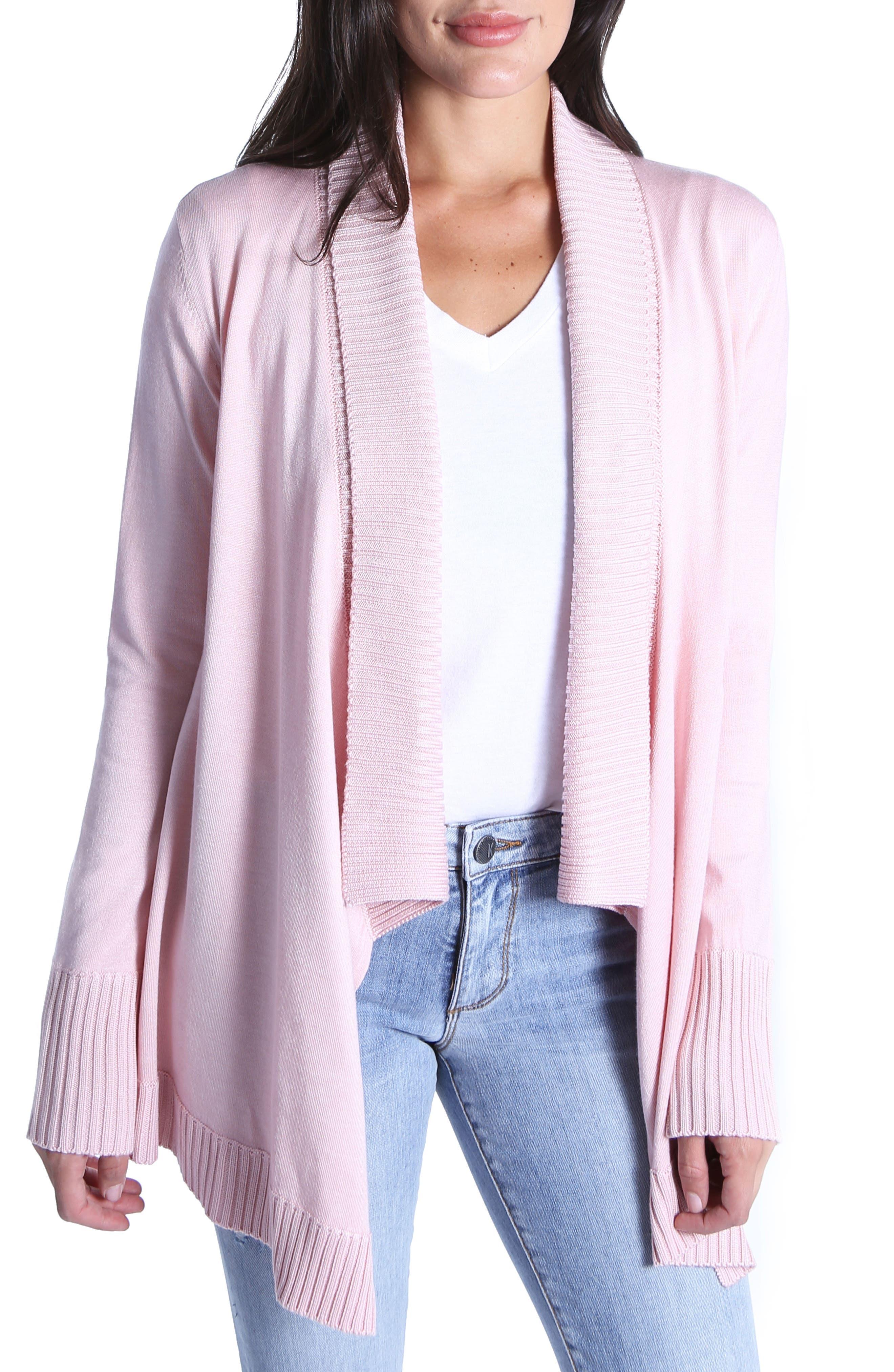 Amabelle Knit Cardigan,                         Main,                         color, Blush