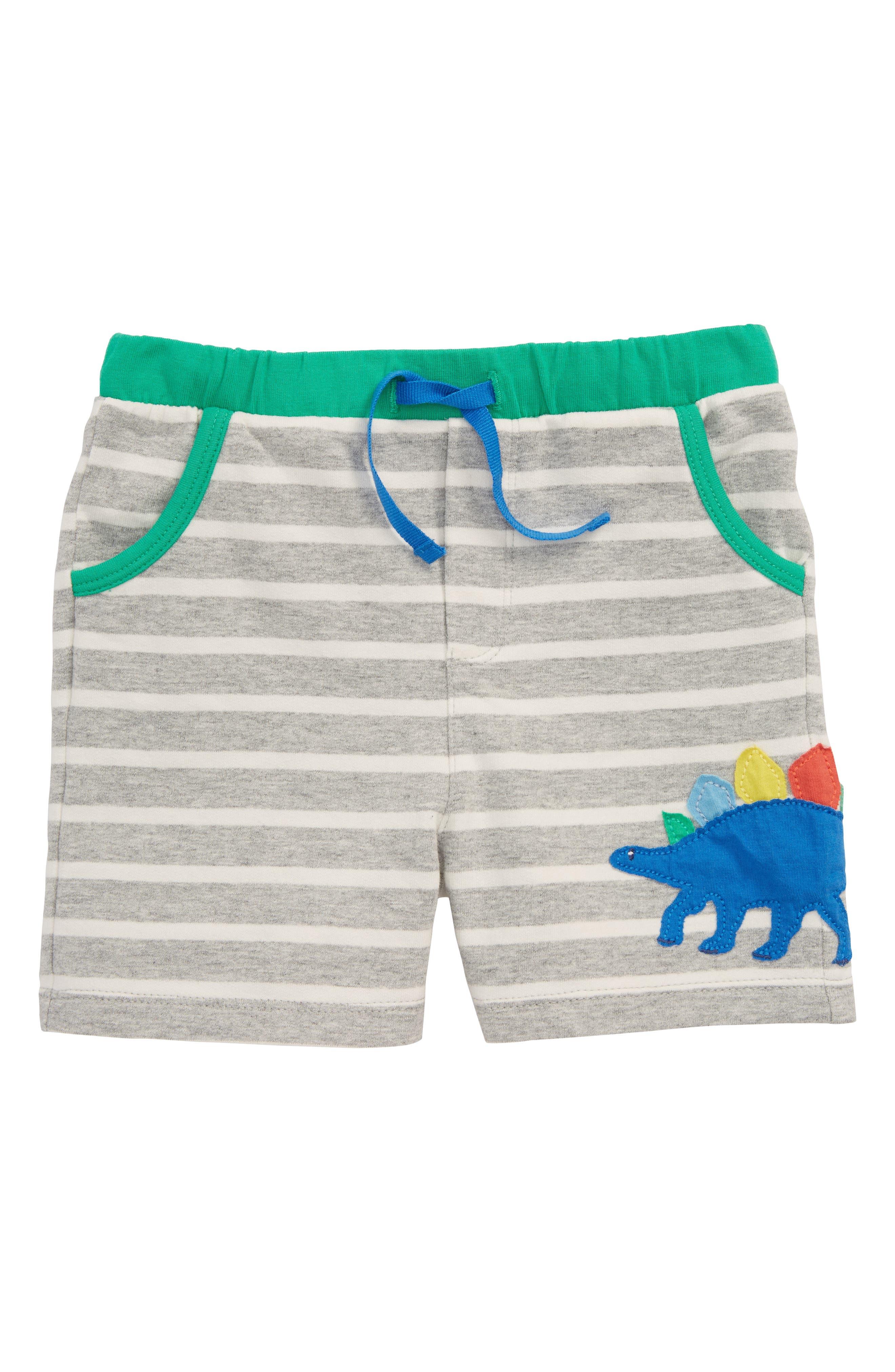 Appliqué Jersey Shorts,                         Main,                         color, Grey Marl