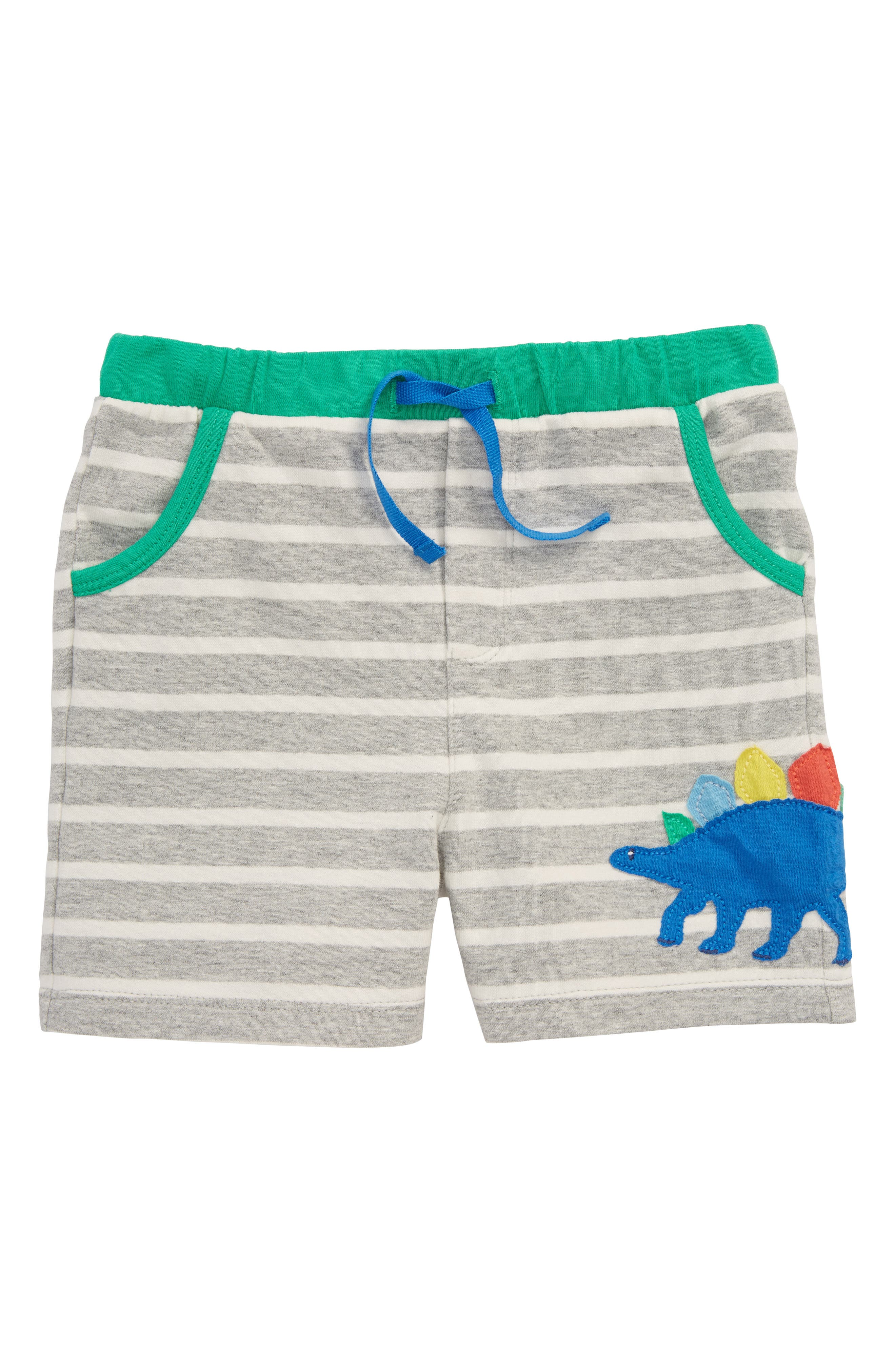 Mini Boden Appliqué Jersey Shorts (Baby Boys)