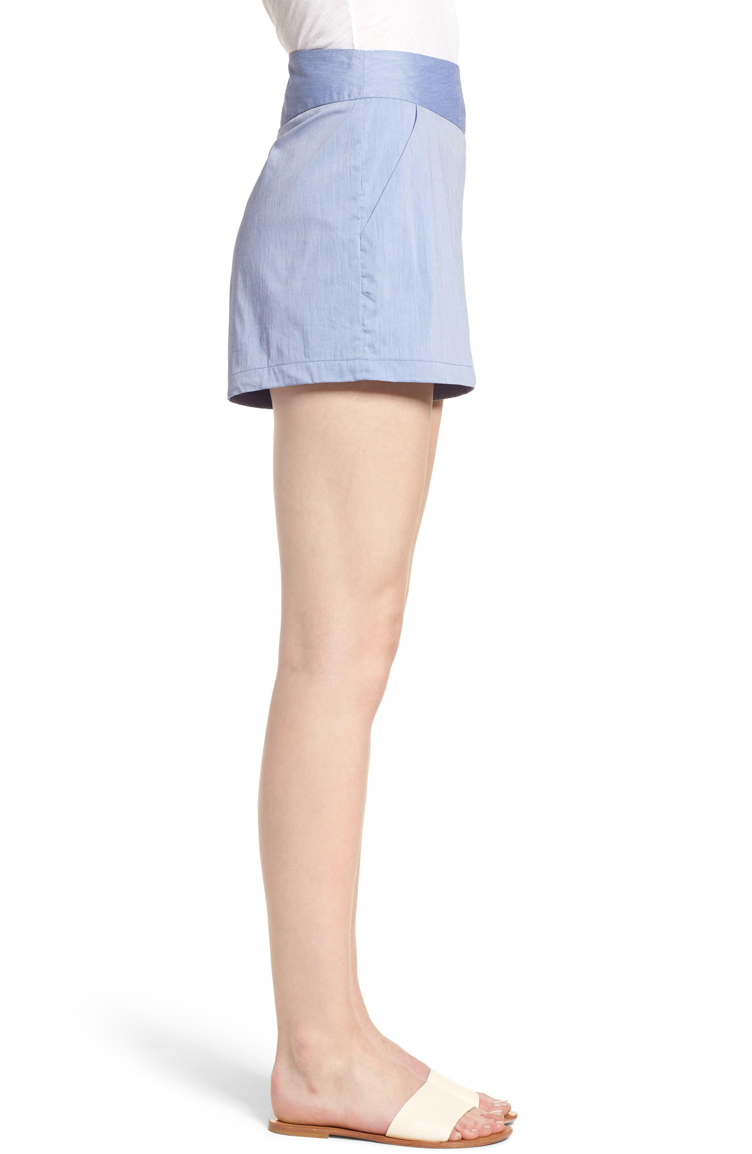 Bishop + Young Ana Pocket Shorts,                             Alternate thumbnail 3, color,                             Blue