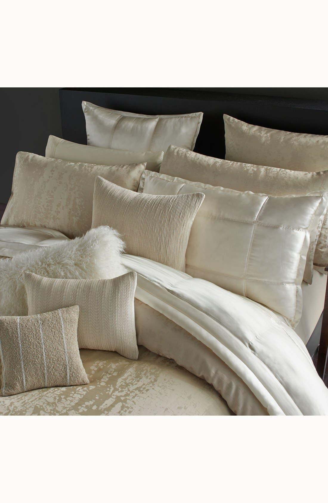Donna Karan Collection 'Moonscape' Woven Pillow,                             Alternate thumbnail 2, color,                             Ivory